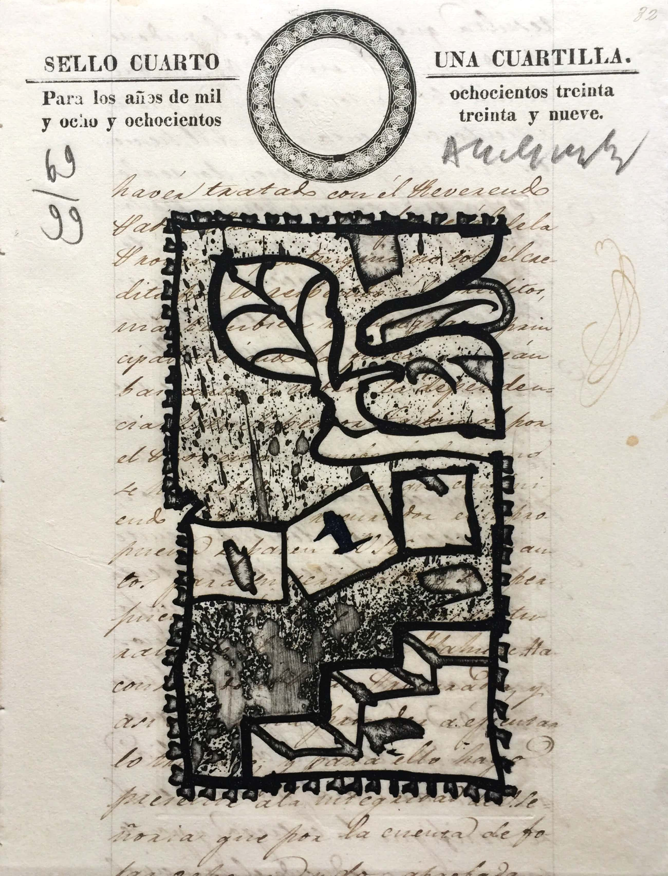 Pierre Alechinsky - Una Cuartilla - ets/aquatint 1993 - oplage 99 kopen? Bied vanaf 500!
