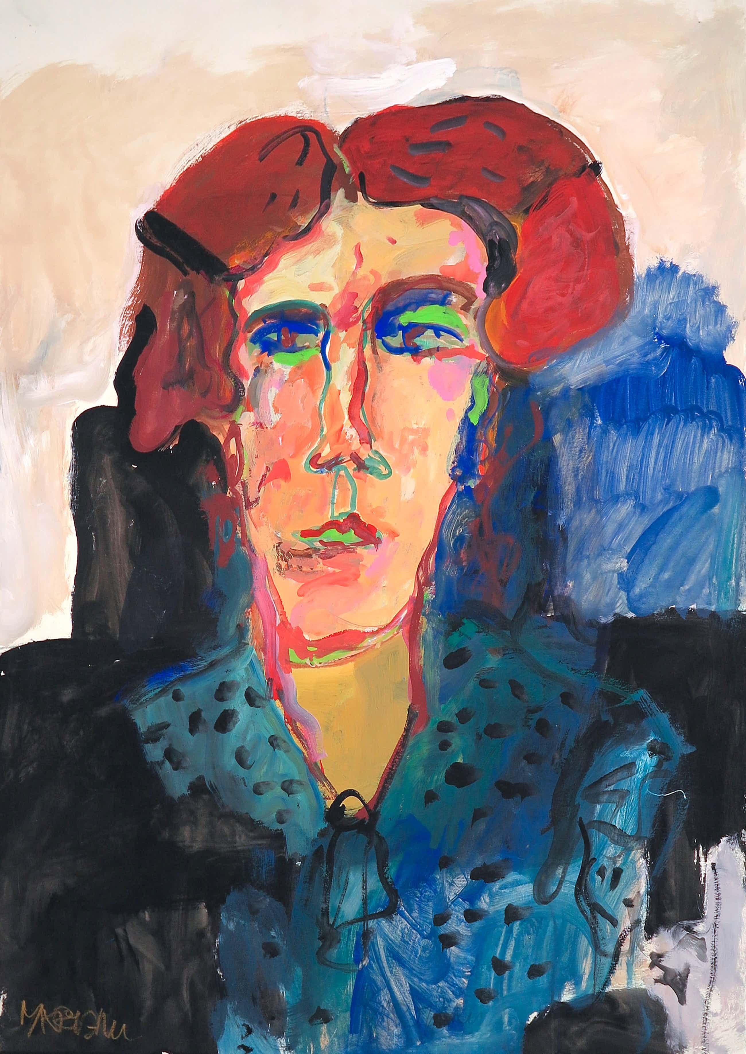 Anton Martineau - Gouache, Portret kopen? Bied vanaf 141!