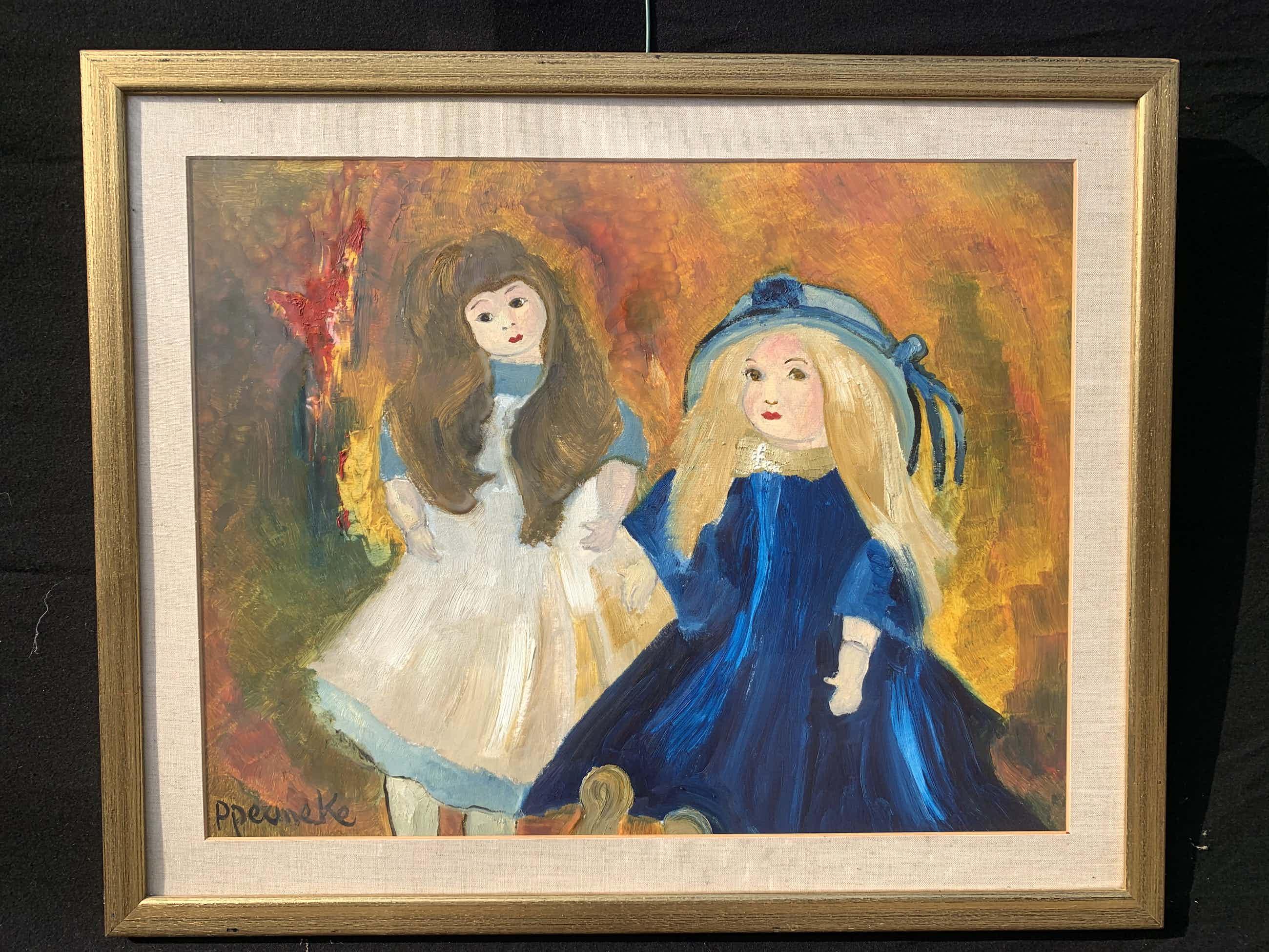 Paul Permeke - Olieverf schilderij: twee meisjes. kopen? Bied vanaf 370!