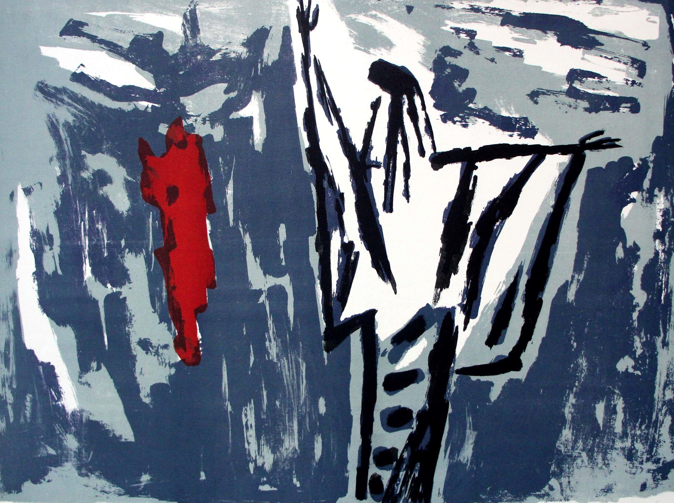 Wally Elenbaas - litho: abstract kopen? Bied vanaf 79!