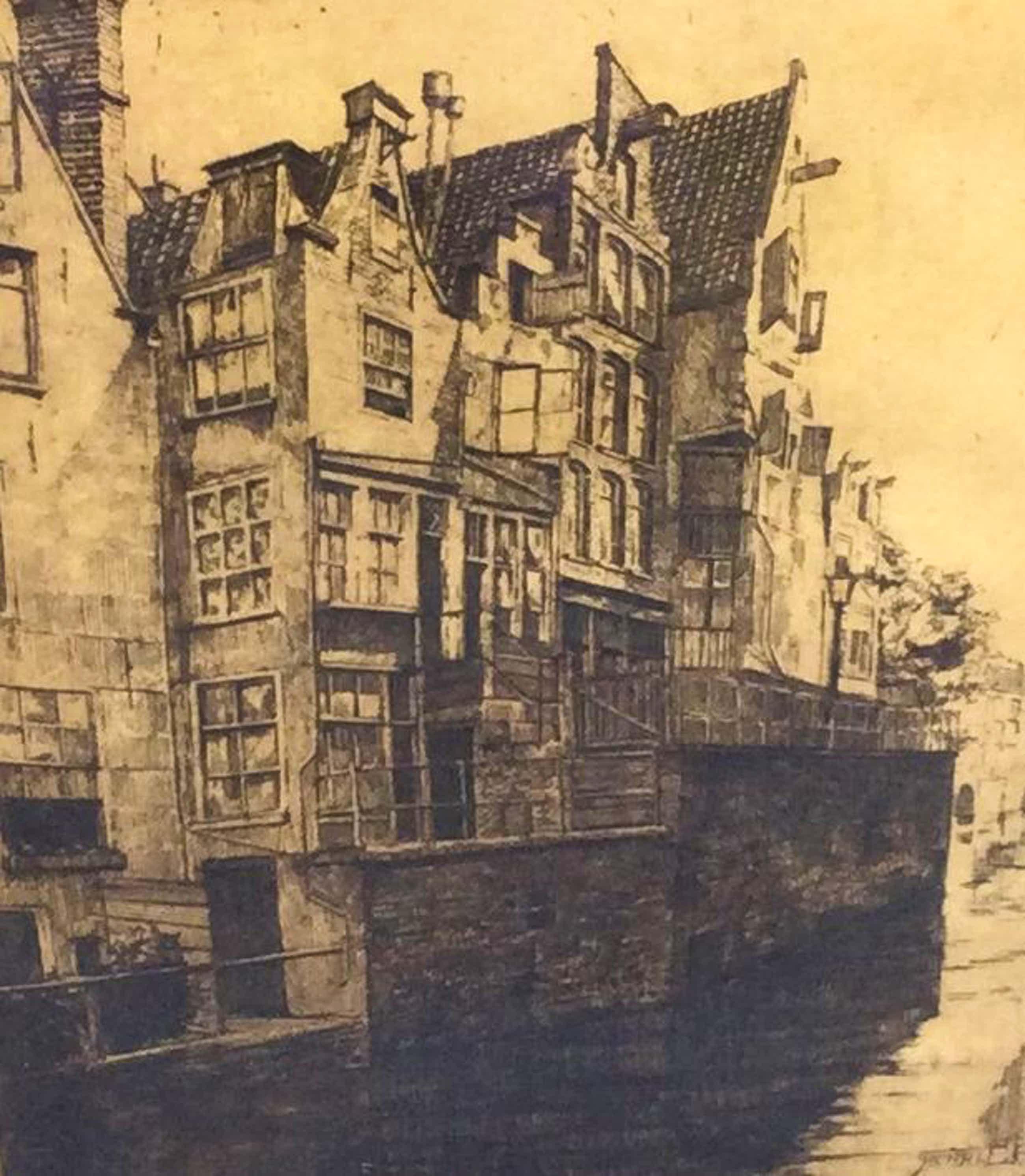 Henri Pieck - C1641-7, Herenhuizen langs de gracht kopen? Bied vanaf 100!