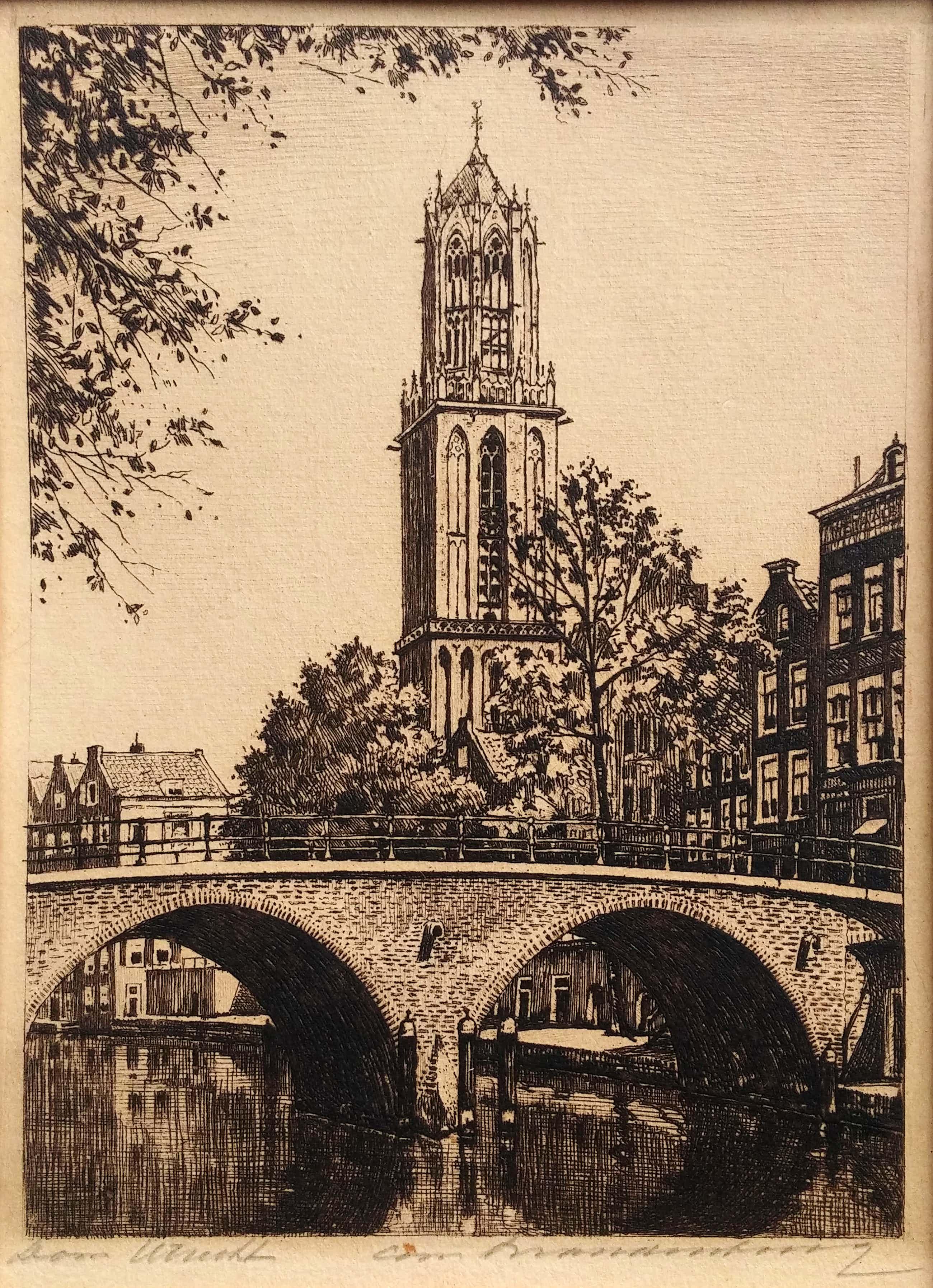 Cornelis Brandenburg - ets - Dom te Utrecht kopen? Bied vanaf 55!