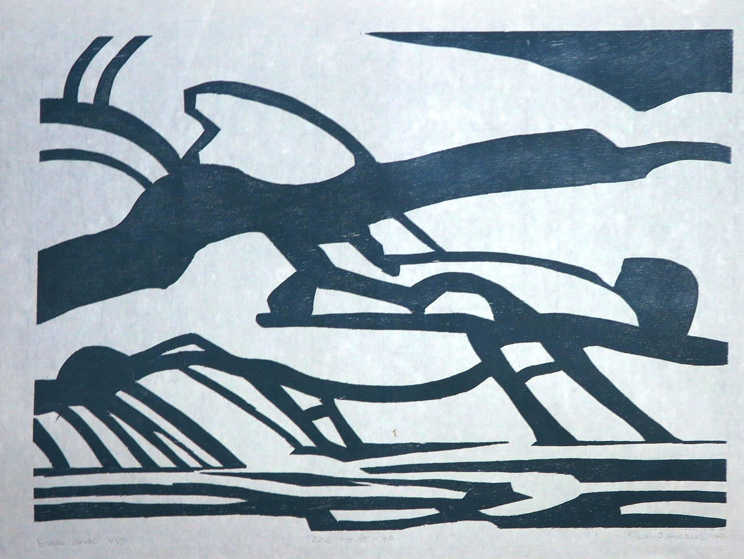 Paul Overhaus - Houtsnede op Japans papier, Zee no. 50 - 78 kopen? Bied vanaf 70!