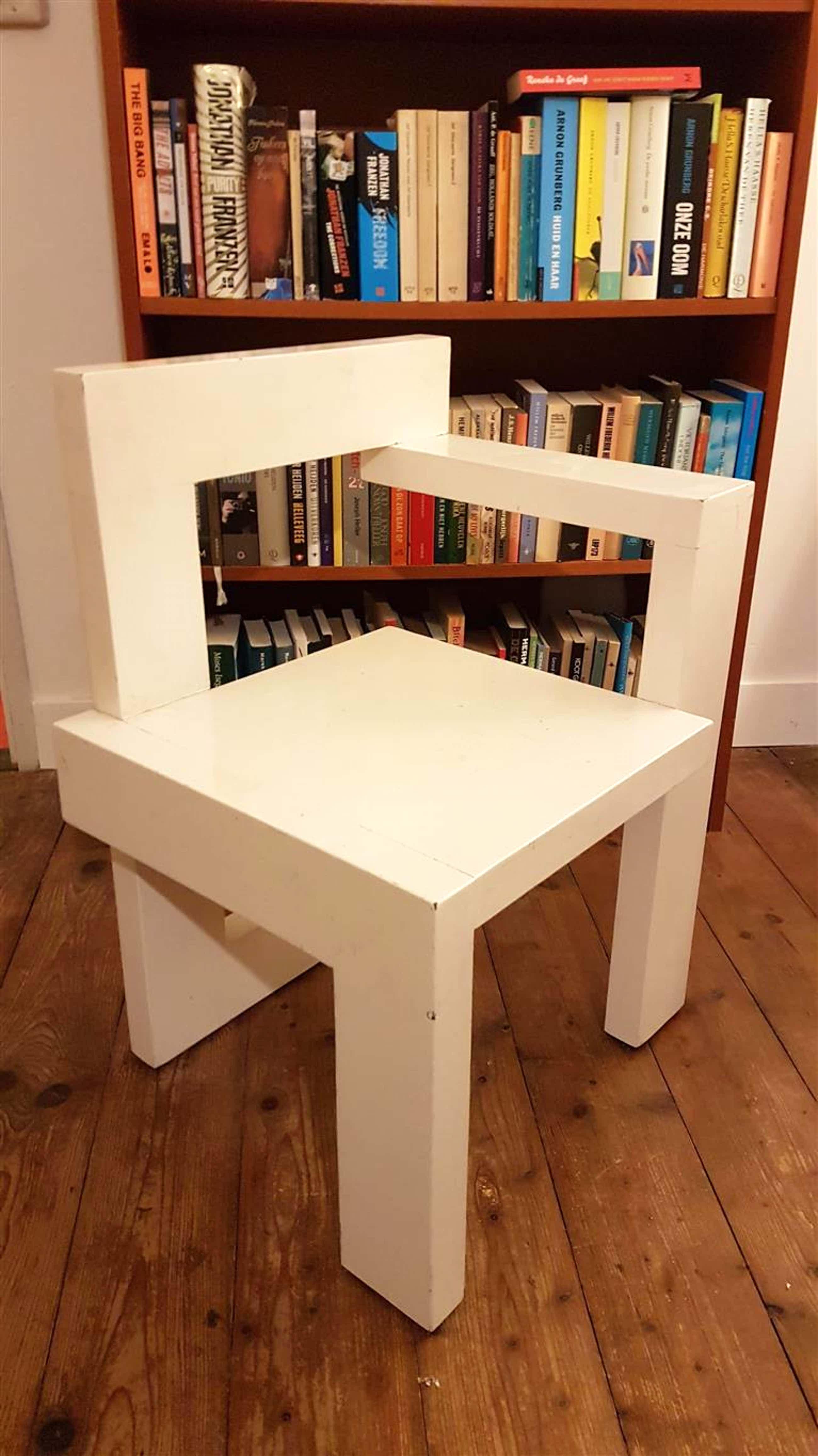 Gerrit Rietveld - Steltmanstoel replica wit gelakt kopen? Bied vanaf 169!