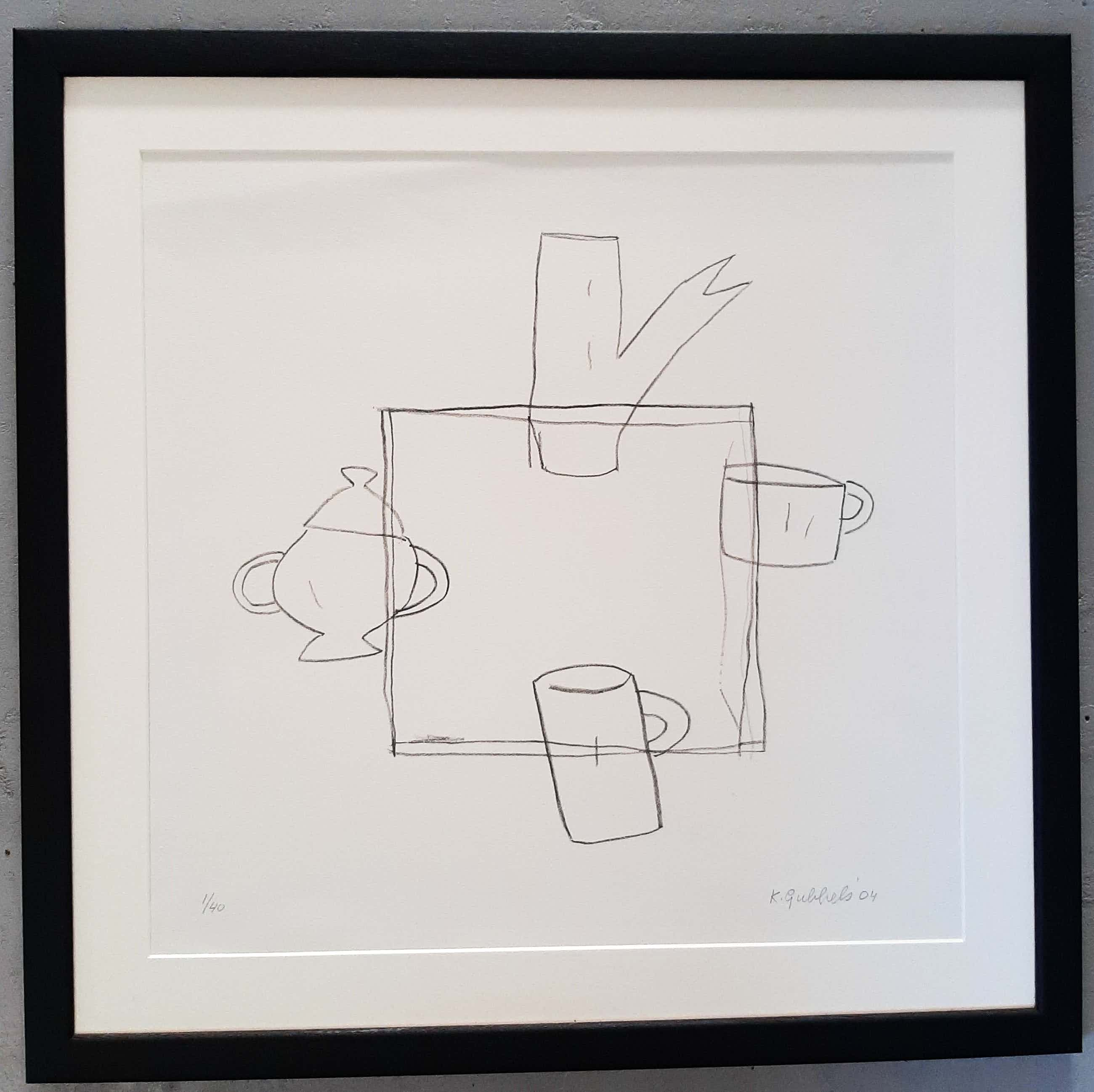 Klaas Gubbels - ingelijst met museum / art glass kopen? Bied vanaf 320!