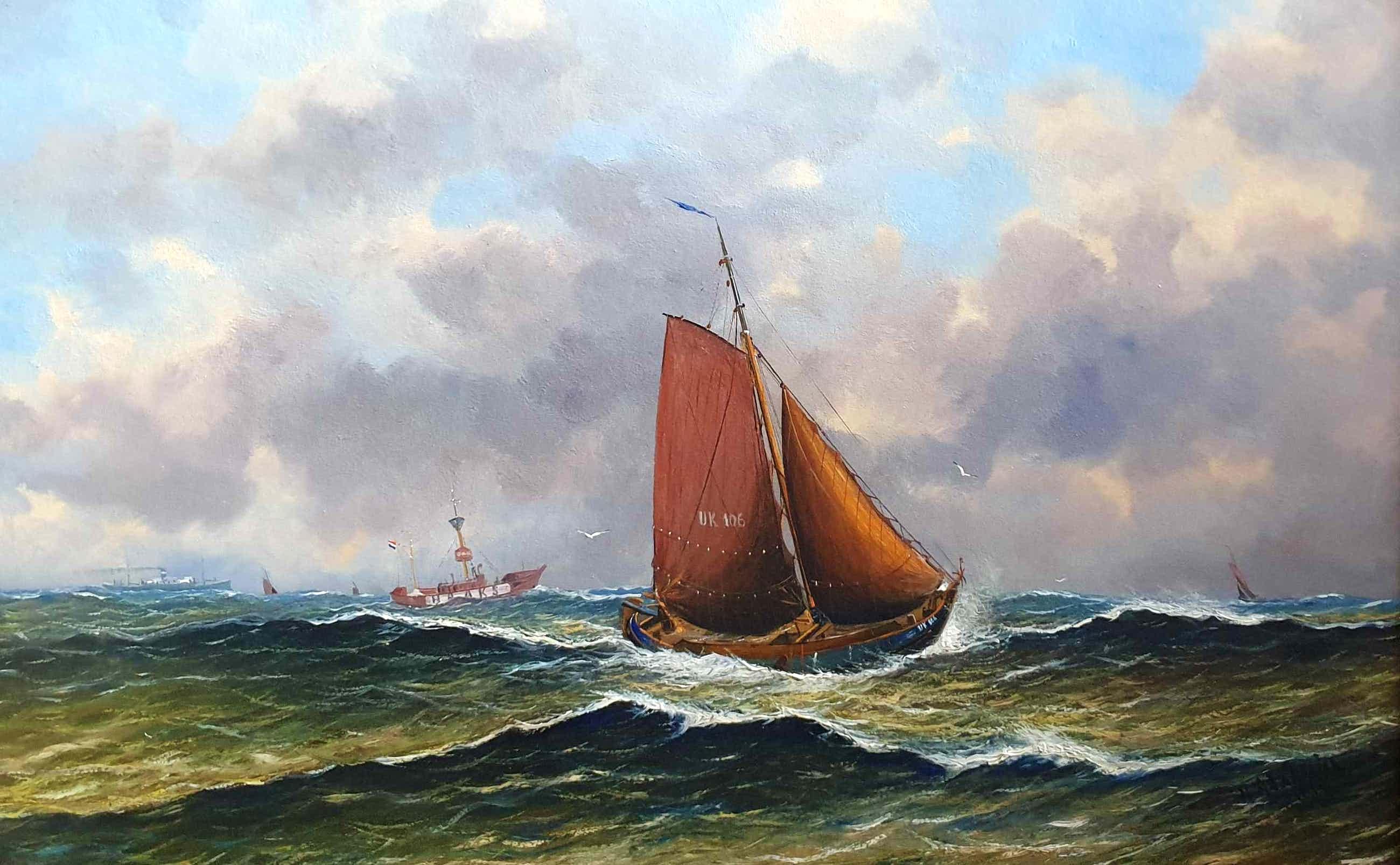 Haaike Abraham Jaarsma - C781-4 - UK 106 en kotters op zee kopen? Bied vanaf 500!