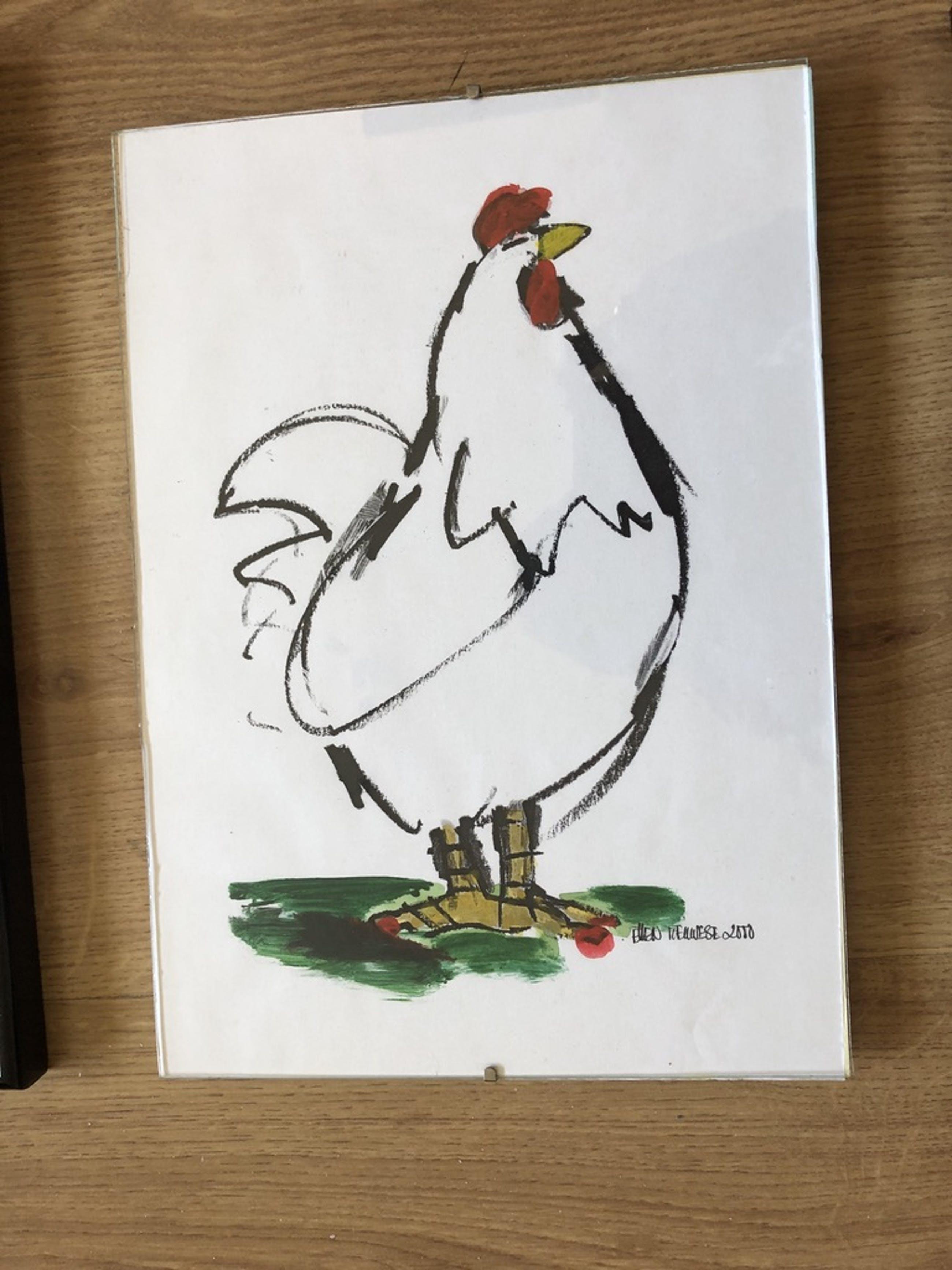 Ellen Meuwese - 3 Zeefdrukken van de kippenserie - gesigneerd kopen? Bied vanaf 35!