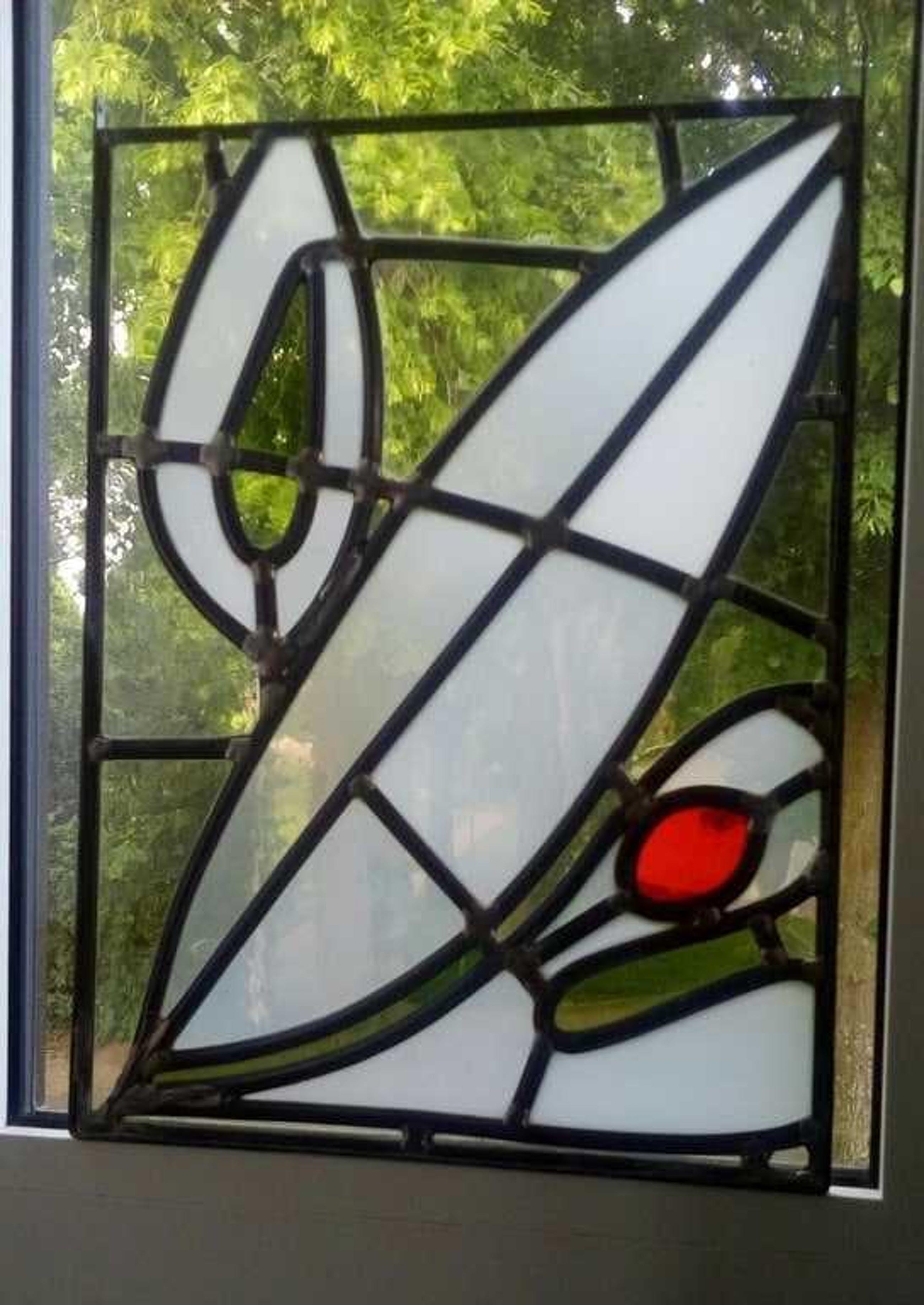 Goede Niet of onleesbaar gesigneerd - Glas-in-lood raamhanger, design FD-72