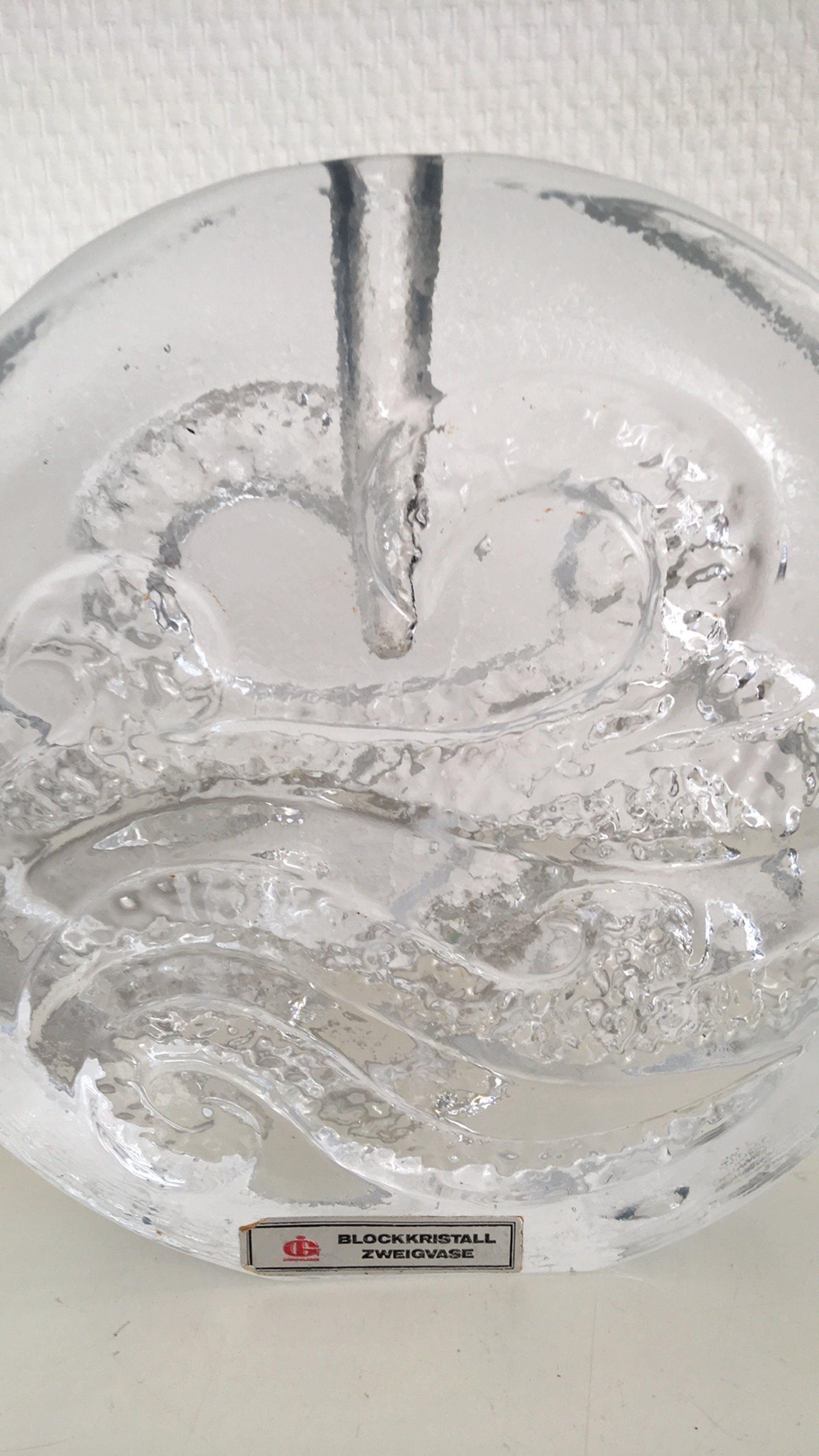 Ingrid Glas - Blockkristall solifleur vaas kopen? Bied vanaf 27!