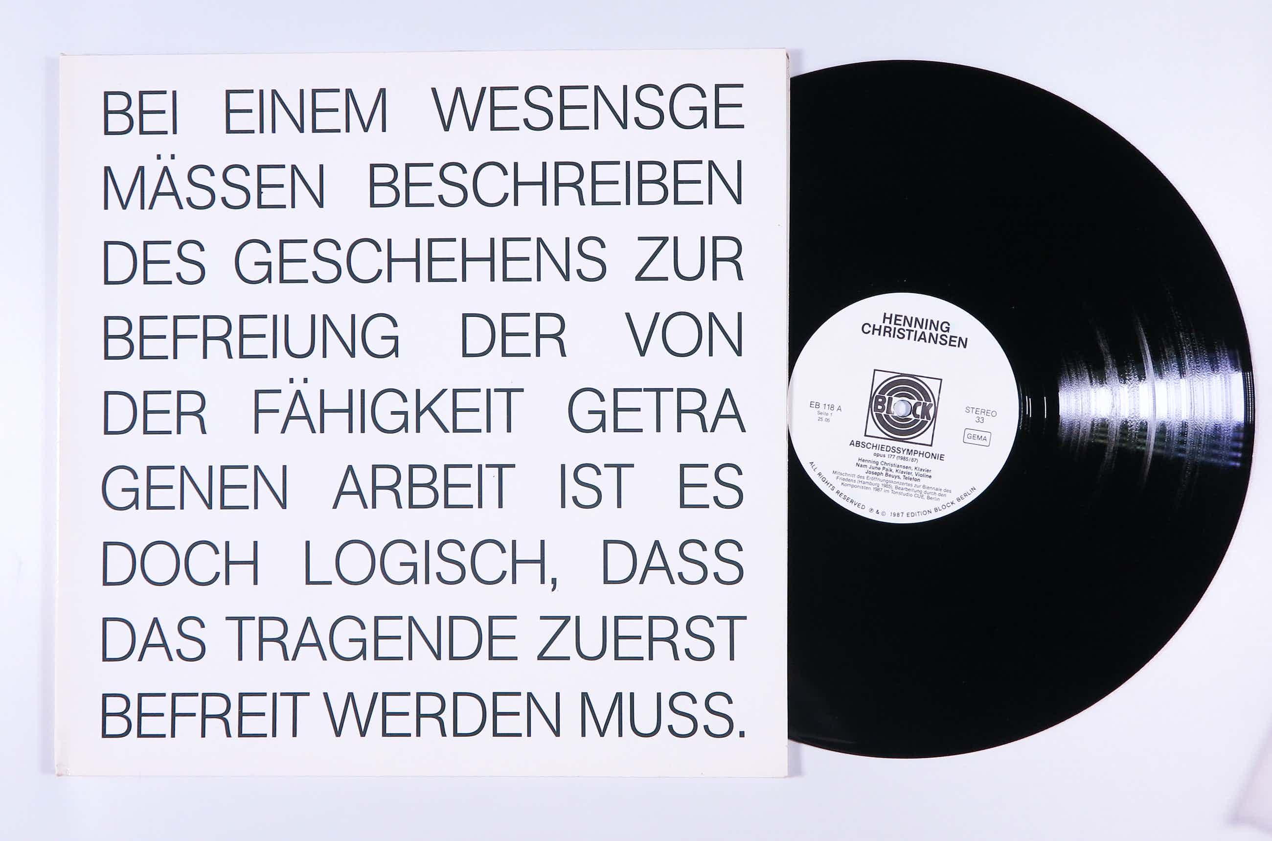 Henning Christiansen - Abschiedssymphonie (Fluxus) kopen? Bied vanaf 60!