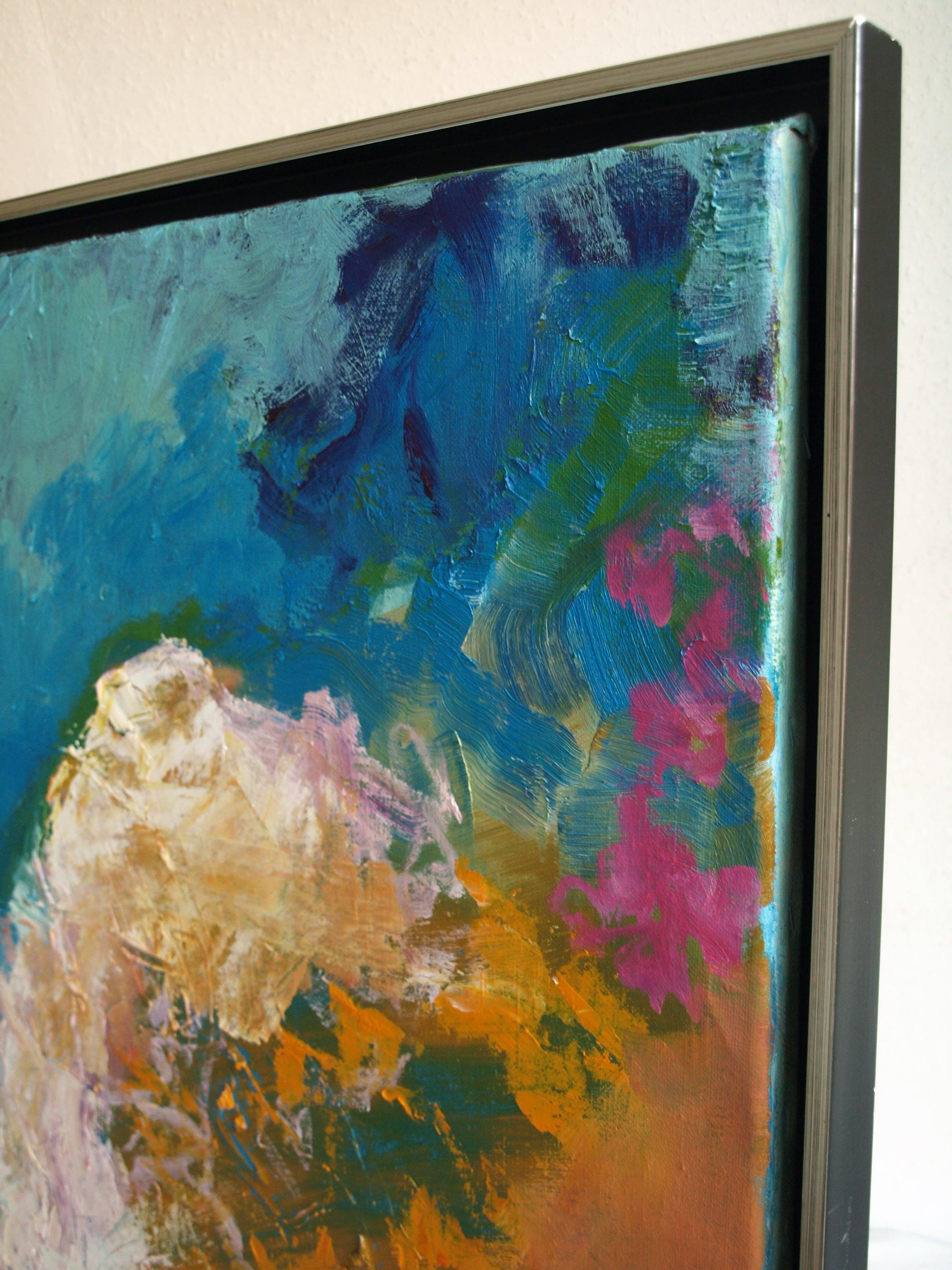 Jasmin Genzel - Olieverf op doek , GROOT en goed ingelijst– 136 x 105 cm - 1996 kopen? Bied vanaf 250!