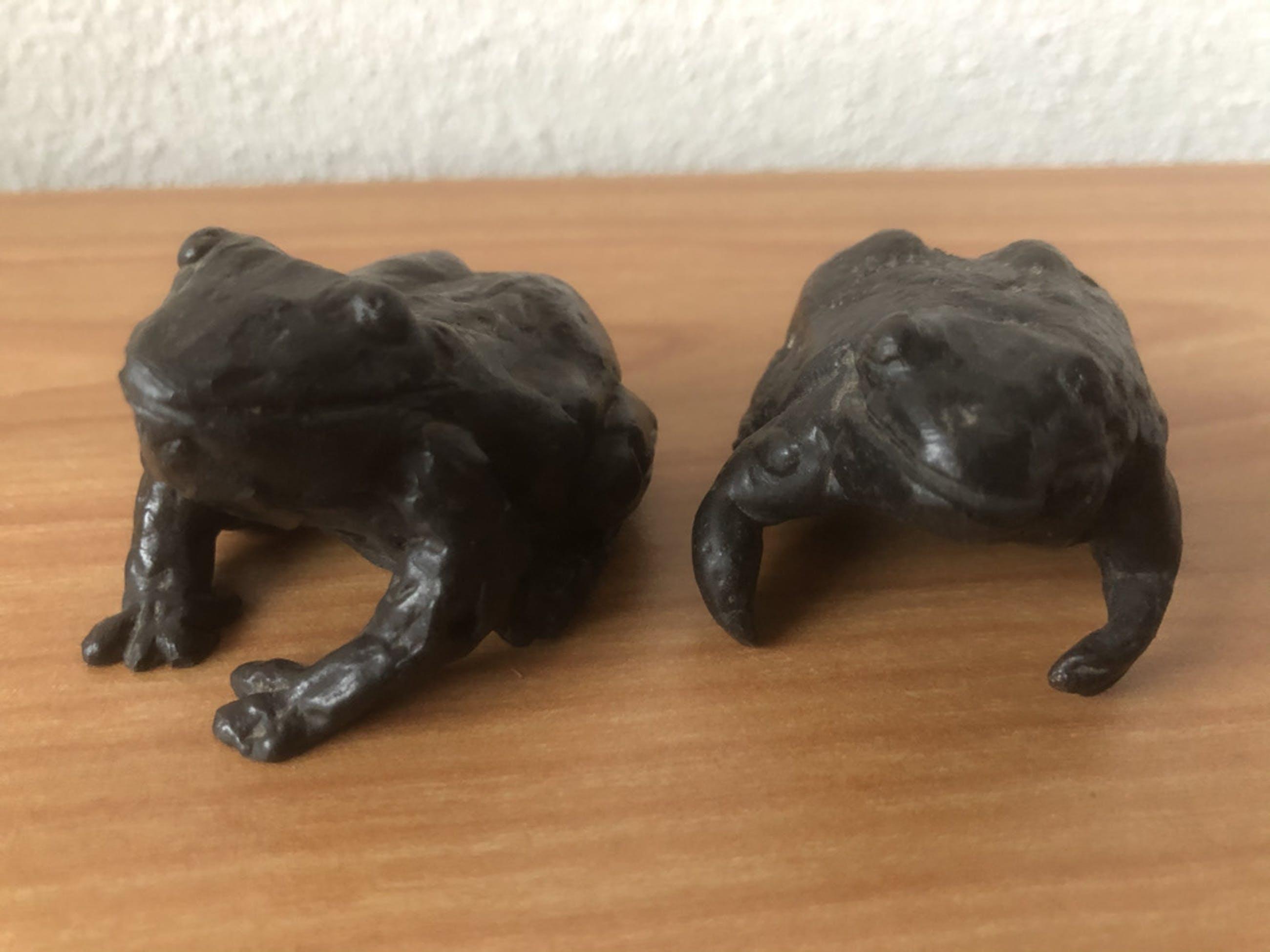 Brons (Onbekend) - Prachtig beeldje van 2 kikkers / kunnen ook apart kopen? Bied vanaf 35!