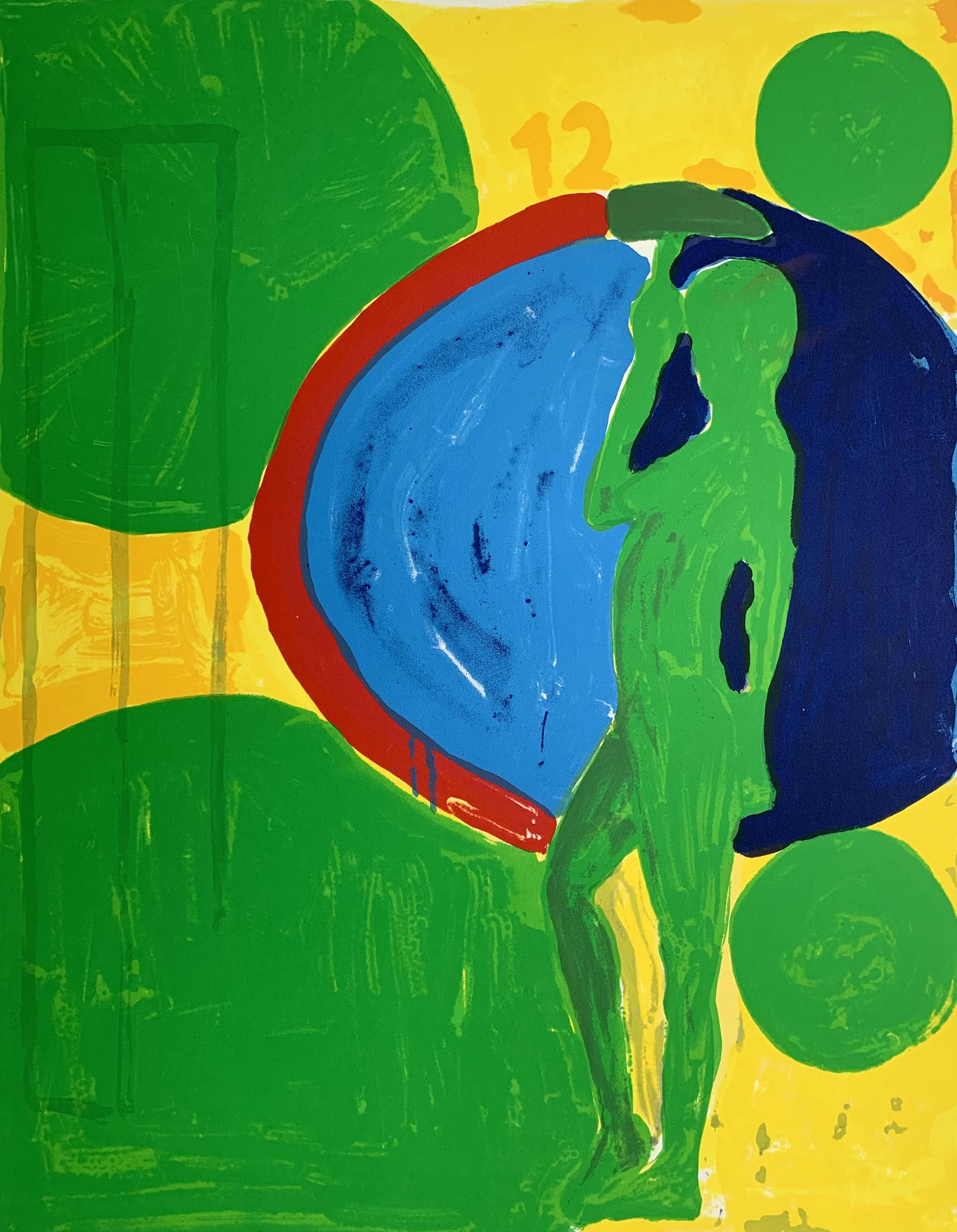 Cees Dolk - kleurenzeefdruk | 'Engel 384' | Printers proof kopen? Bied vanaf 65!