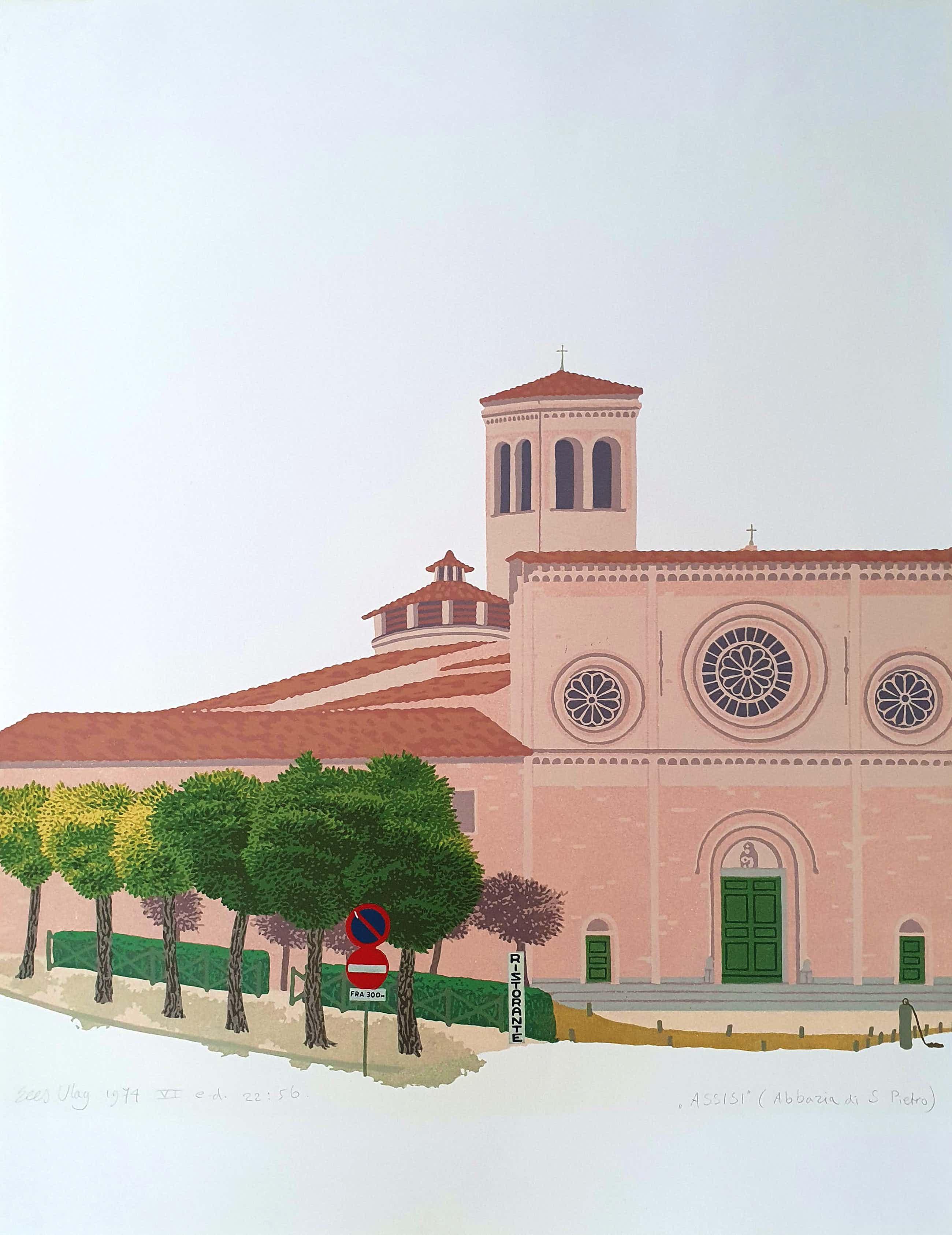 Sees Vlag - Assisi (Abbazia di S. Pietro)- 1974 kopen? Bied vanaf 95!