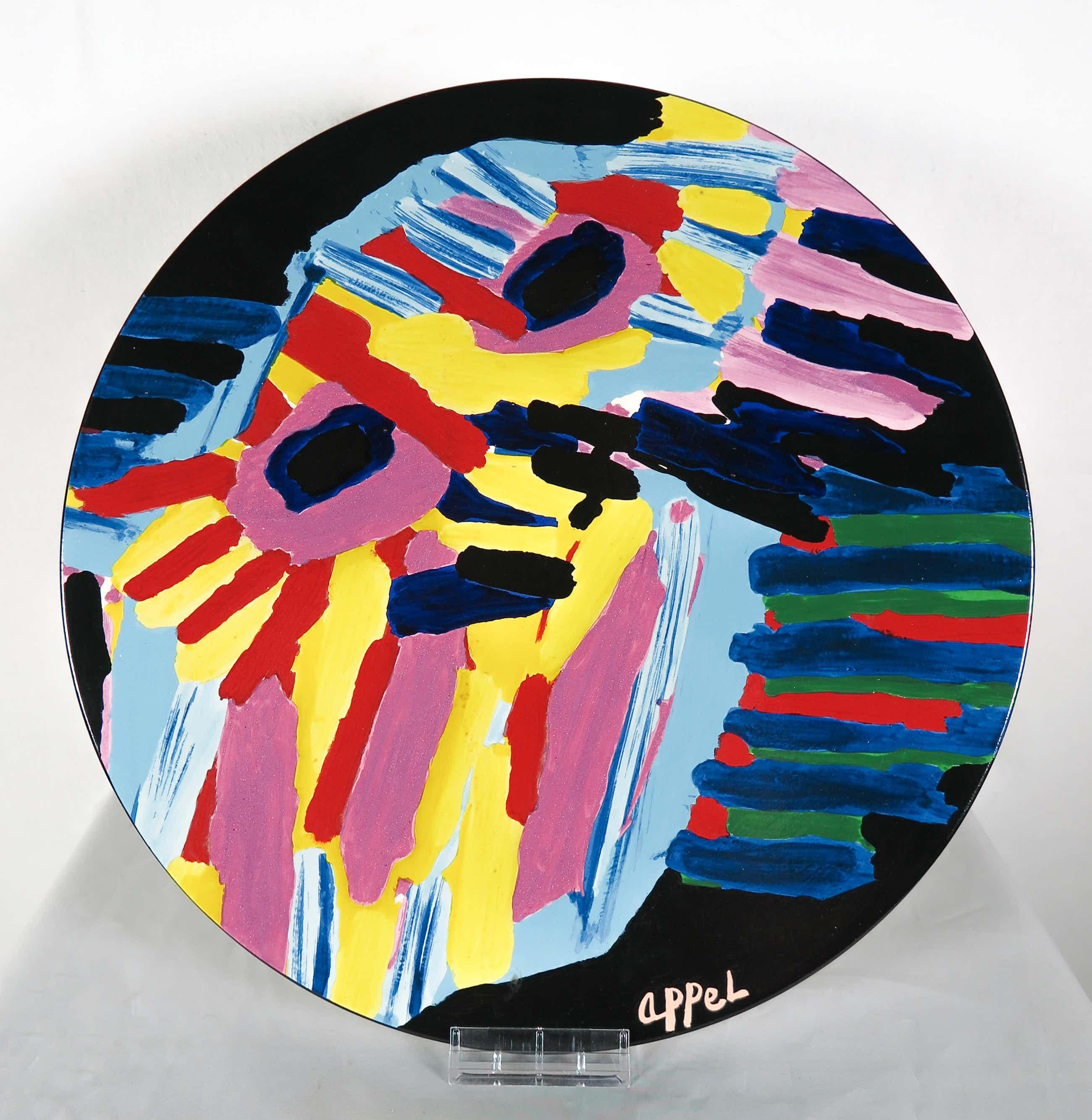 Karel Appel - (naar) - Bord Big Head uitgegeven door Reflex (incl. certificaat!) kopen? Bied vanaf 220!