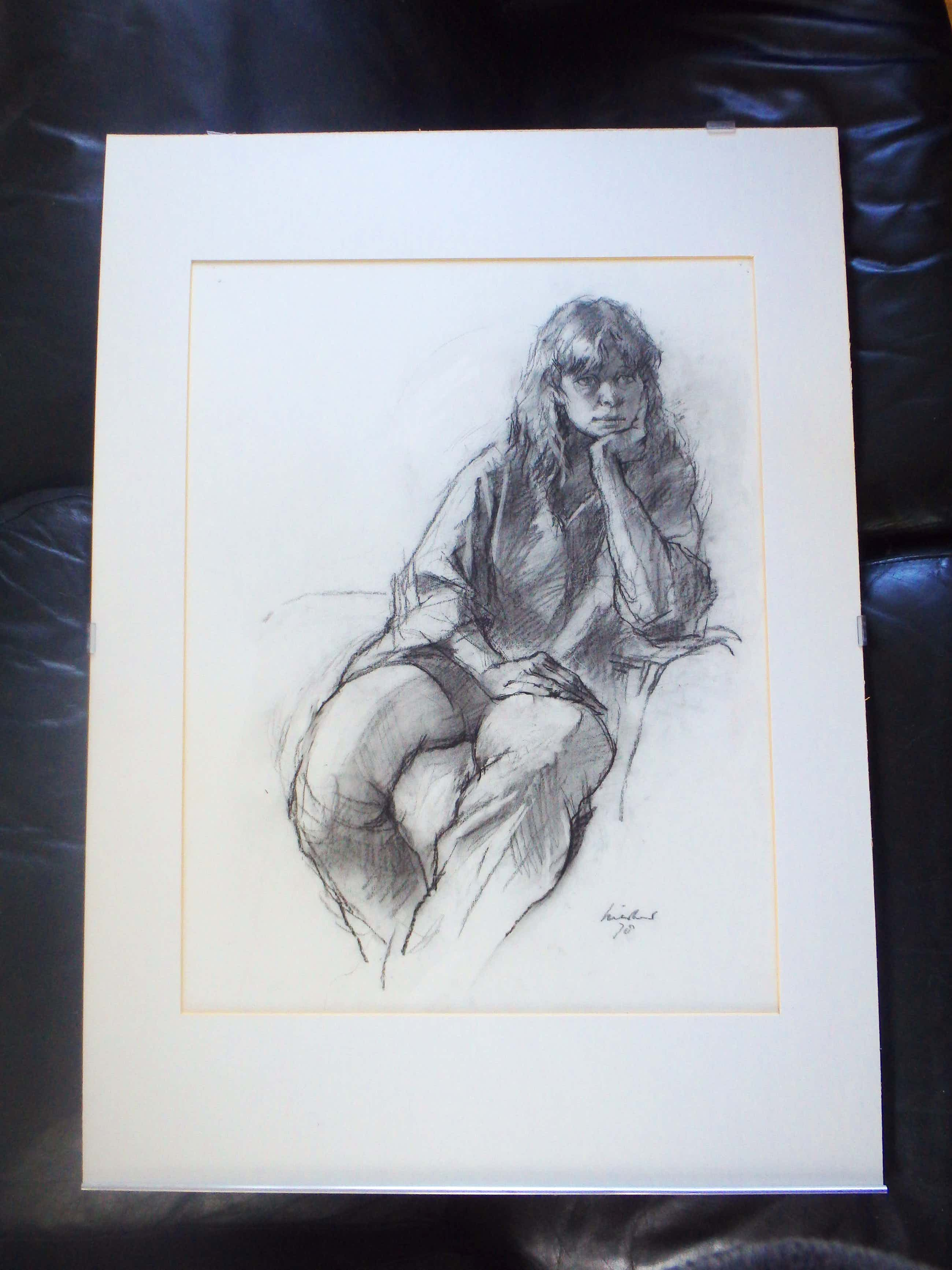 Joop Liesker - mooi meisje geportretteerd kopen? Bied vanaf 75!