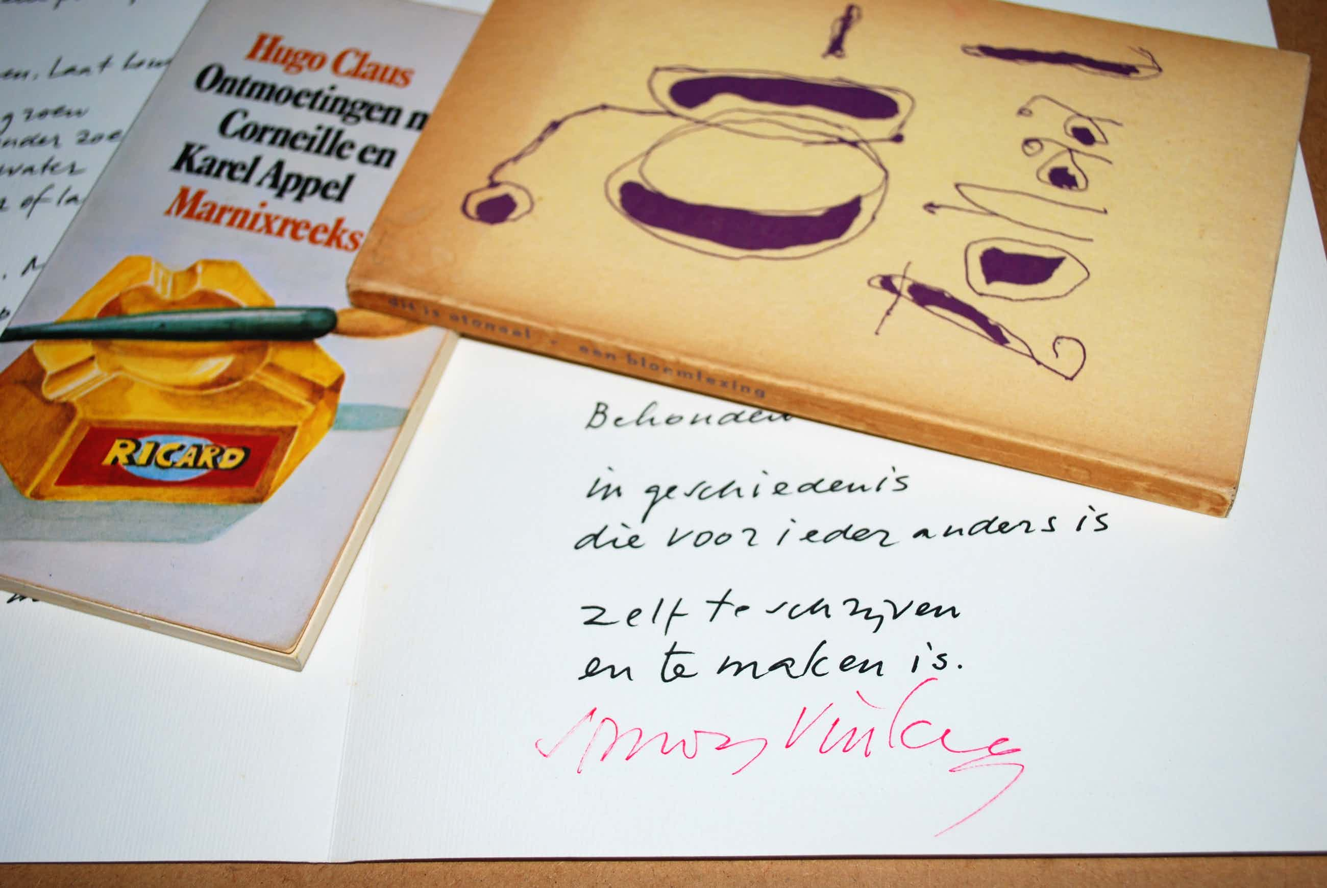 "Simon Vinkenoog - 3x: Gesign. gedicht, opl. 200 +""Atonaal"" 1952 (ill. K.Appel/Corneille) +H.Claus kopen? Bied vanaf 65!"