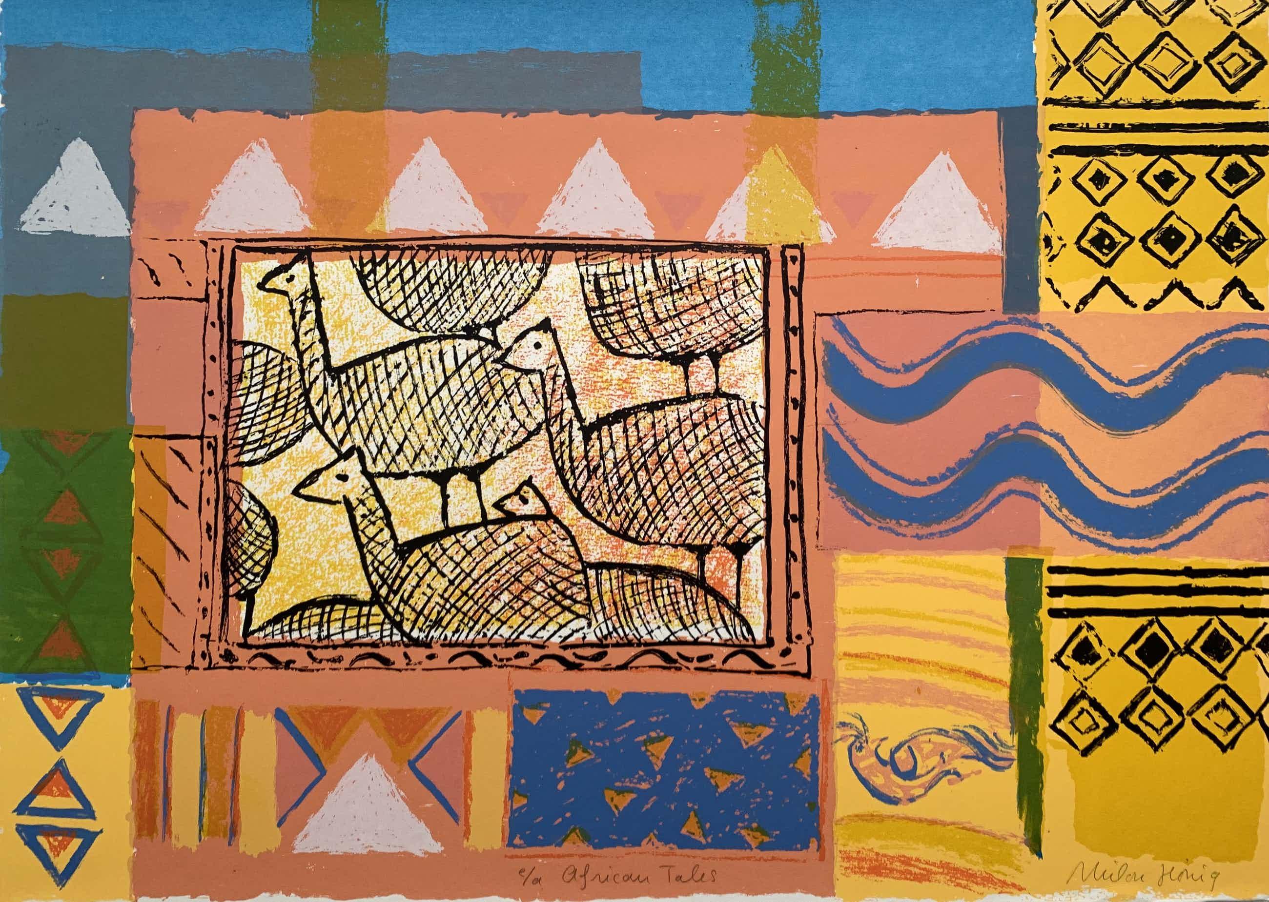 Milou Honig - kleurenzeefdruk | 'African tales' | épreuve d'artiste kopen? Bied vanaf 40!