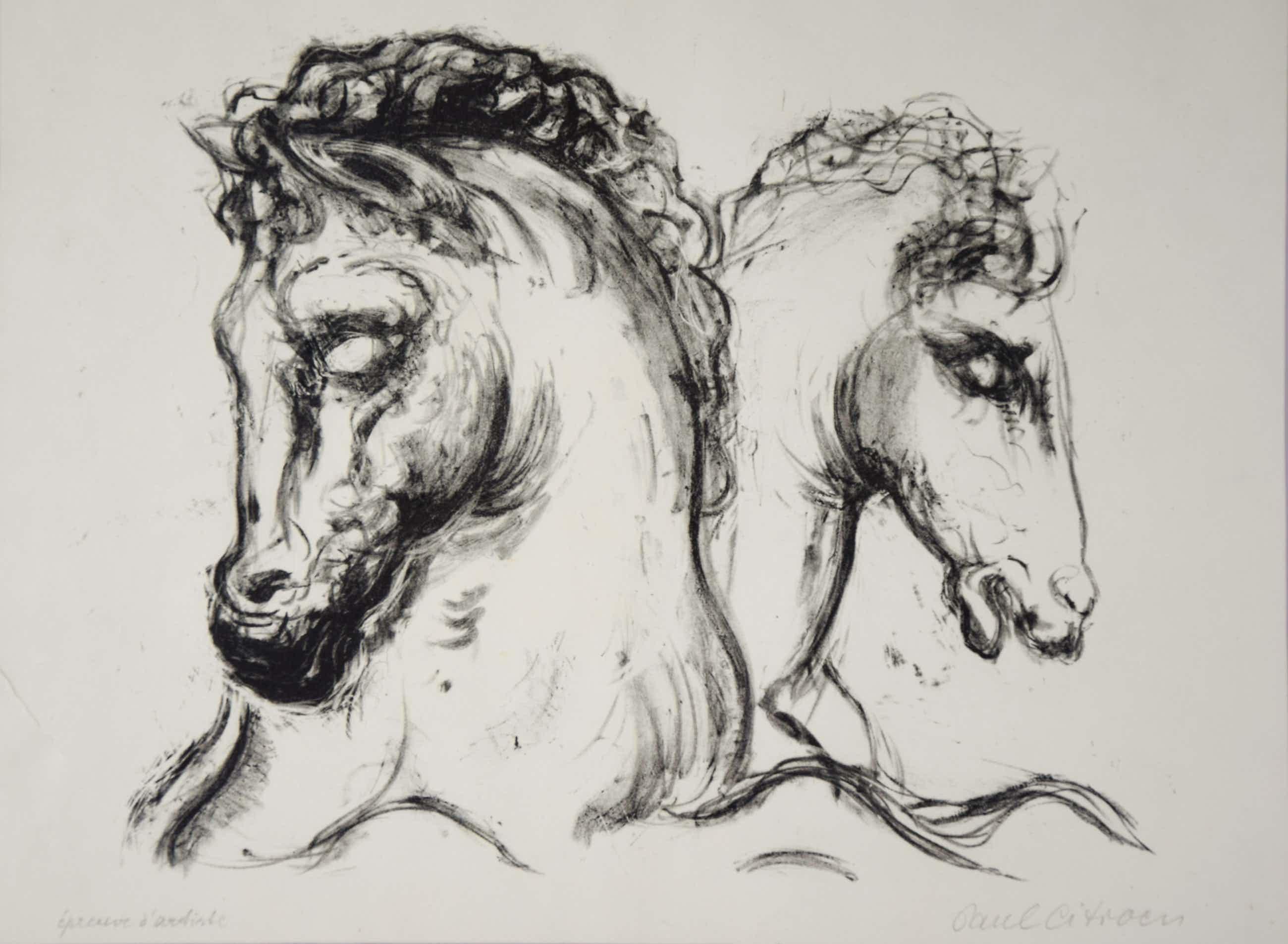 Paul Citroen - Twee paarden Epreuve d'artiste kopen? Bied vanaf 50!