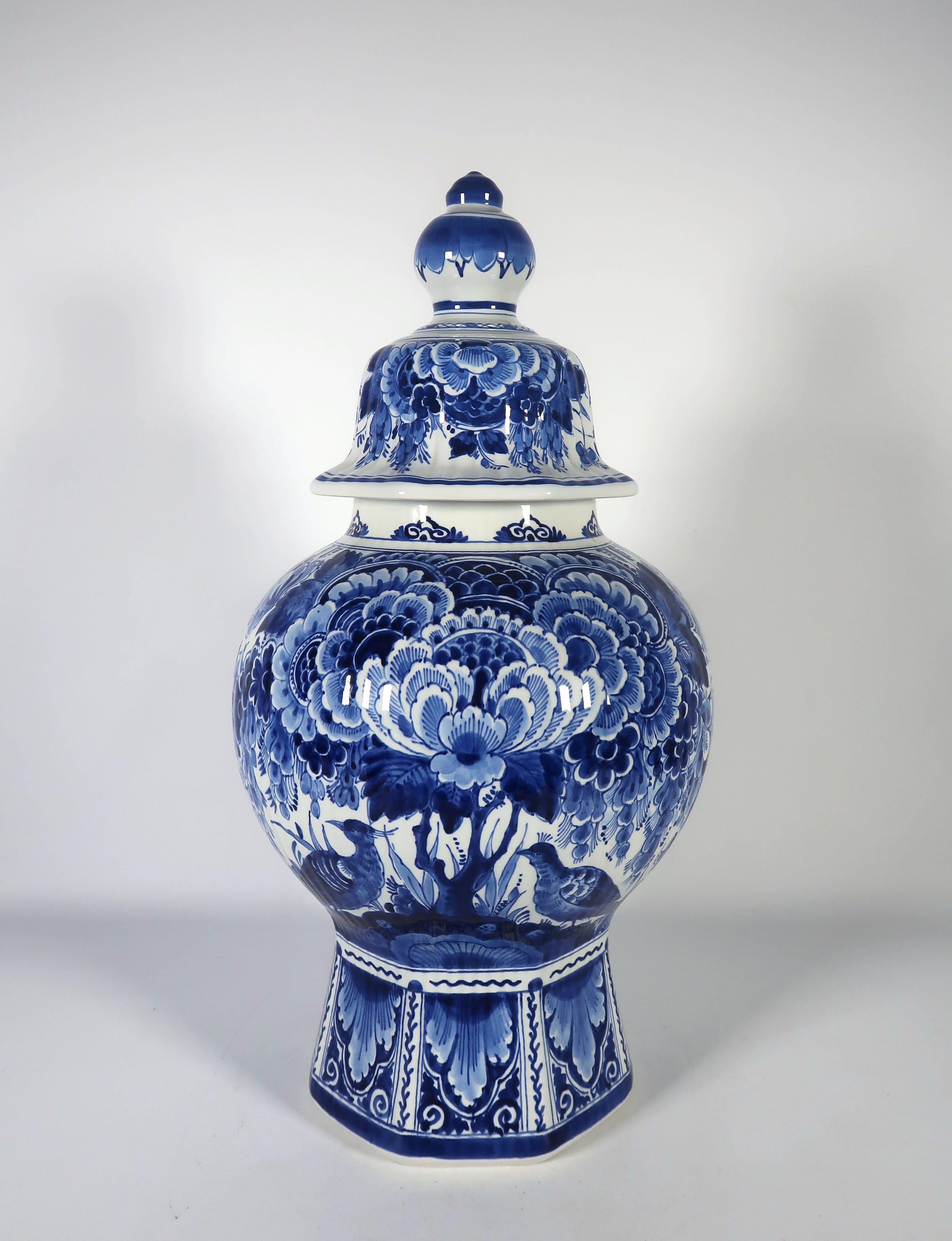 Verrassend Porceleyne Fles (Royal Delft) - Aardewerk, Dekselvaas verkocht TL-72