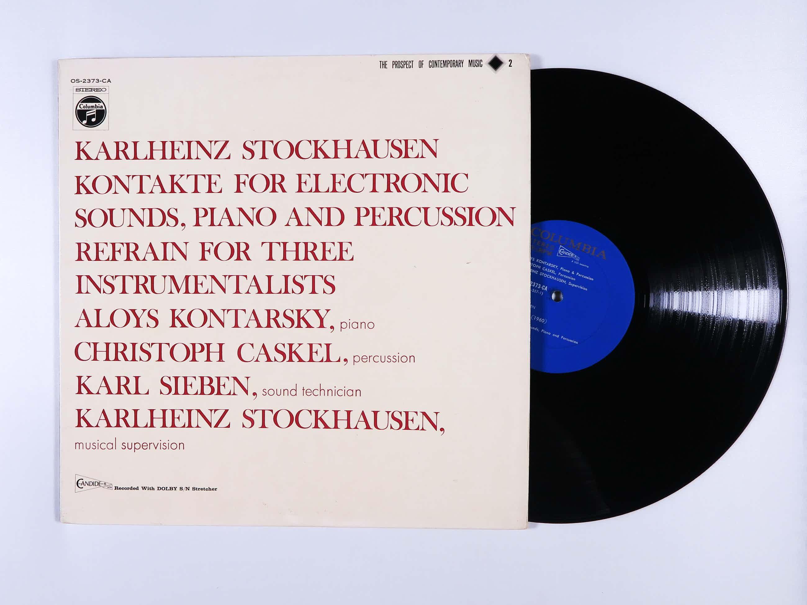 Karlheinz Stockhausen - Kontakte / Refrain kopen? Bied vanaf 25!