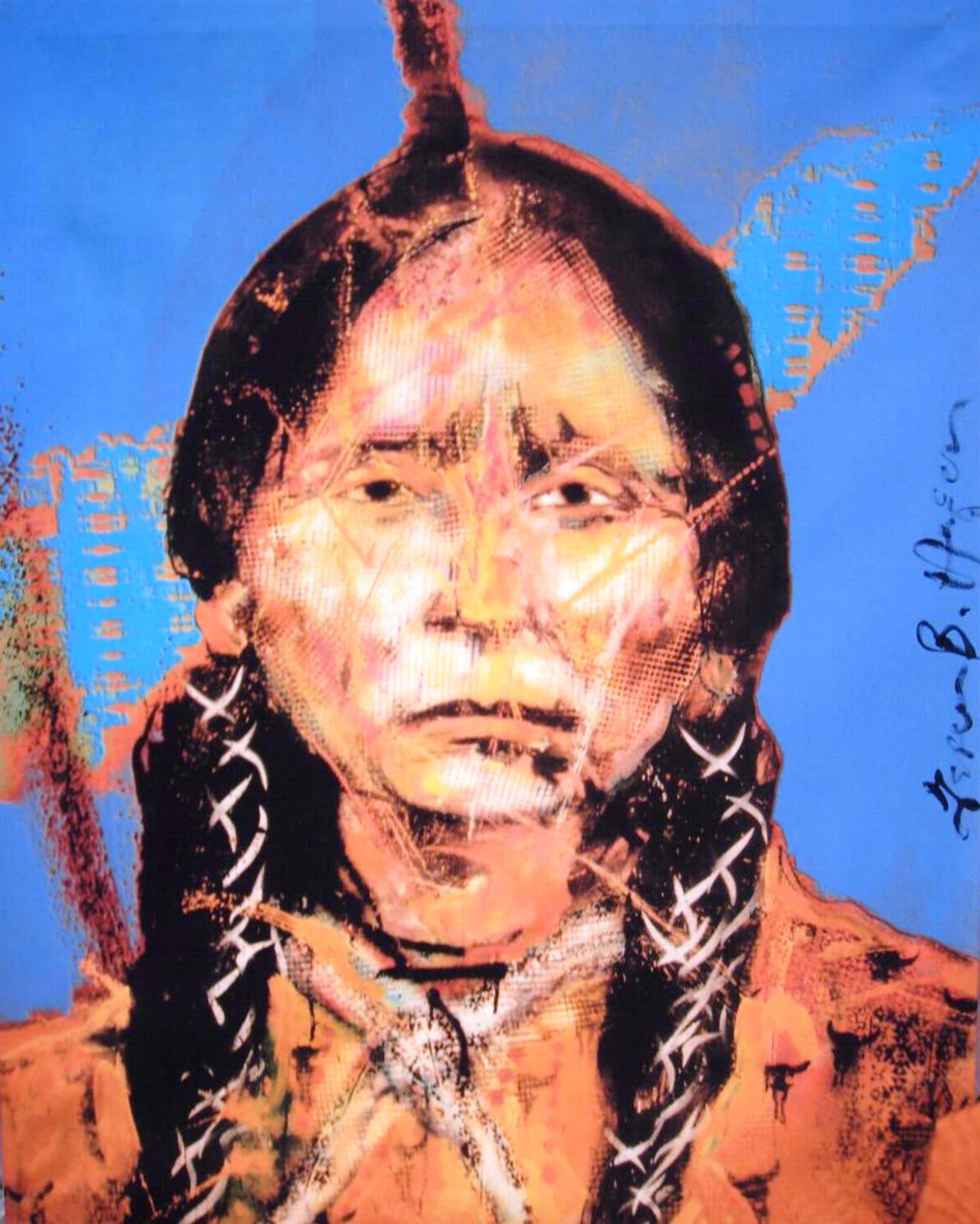 Espen Hagen - Bolivian Indian - Handgesigneerde Giclee op linnen (115x90 cm.) kopen? Bied vanaf 95!
