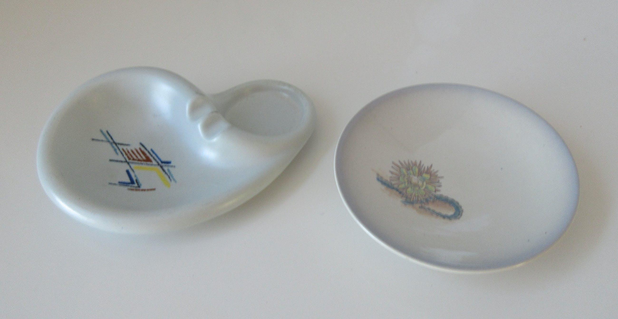 Plateelfabriek Schoonhoven N.V. - Amorfisch asbakje decor Karo en dito bibelot schaaltje kopen? Bied vanaf 1!