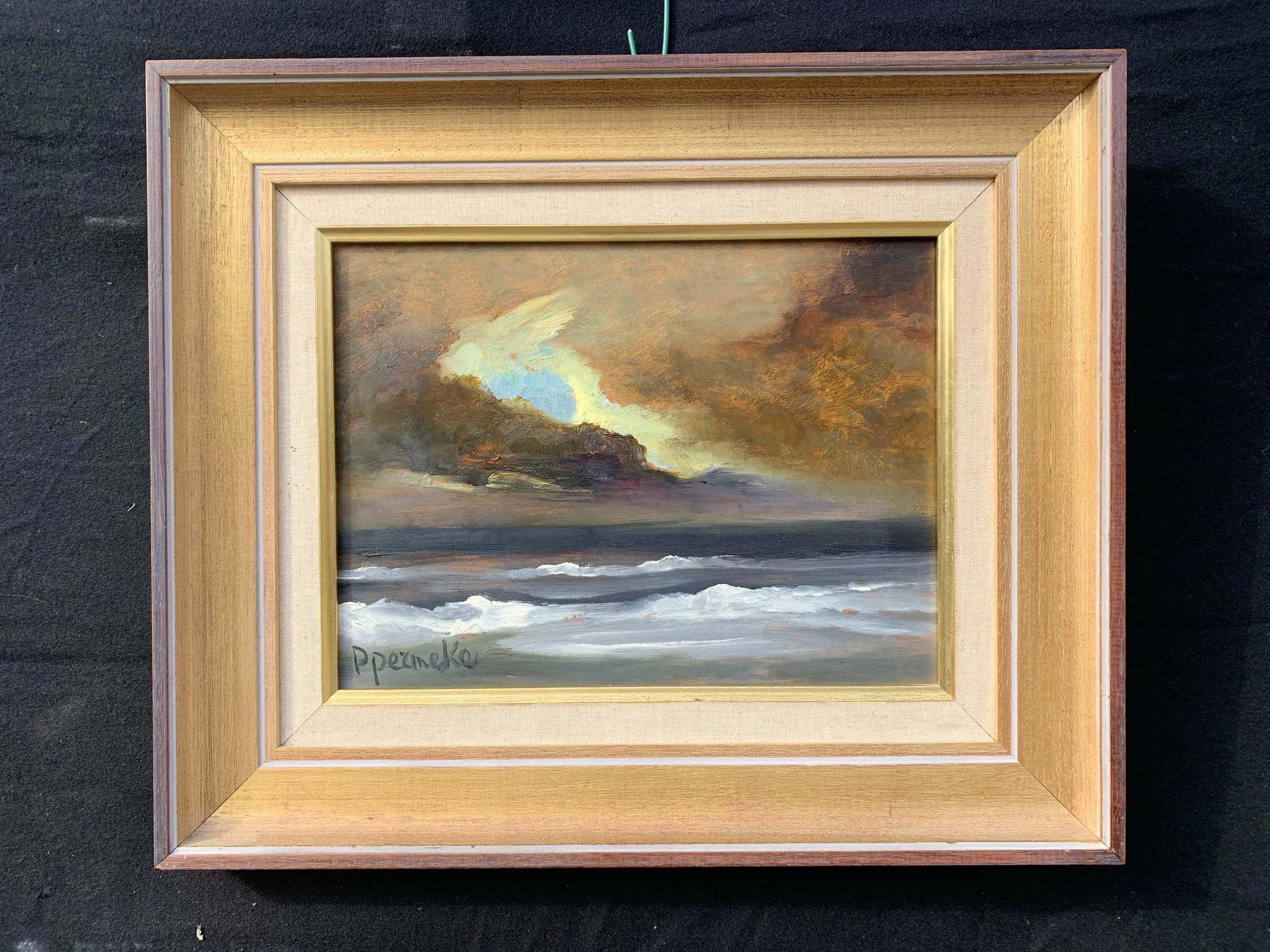 Paul Permeke - Olieverf schilderij: onweer over zee kopen? Bied vanaf 250!