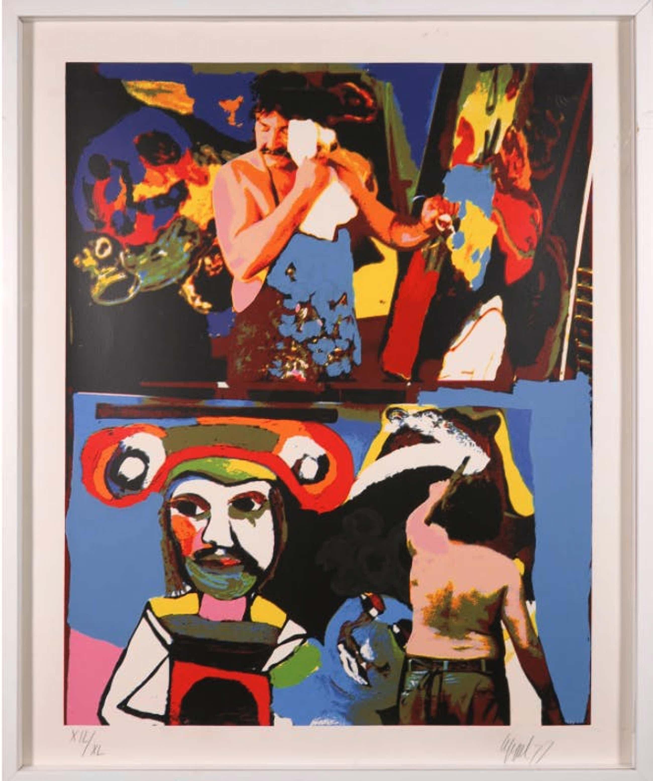 Karel Appel - 'Thursday', gesigneerd, gedateerd '77 + oplage XIL/XL, screen printing. kopen? Bied vanaf 195!