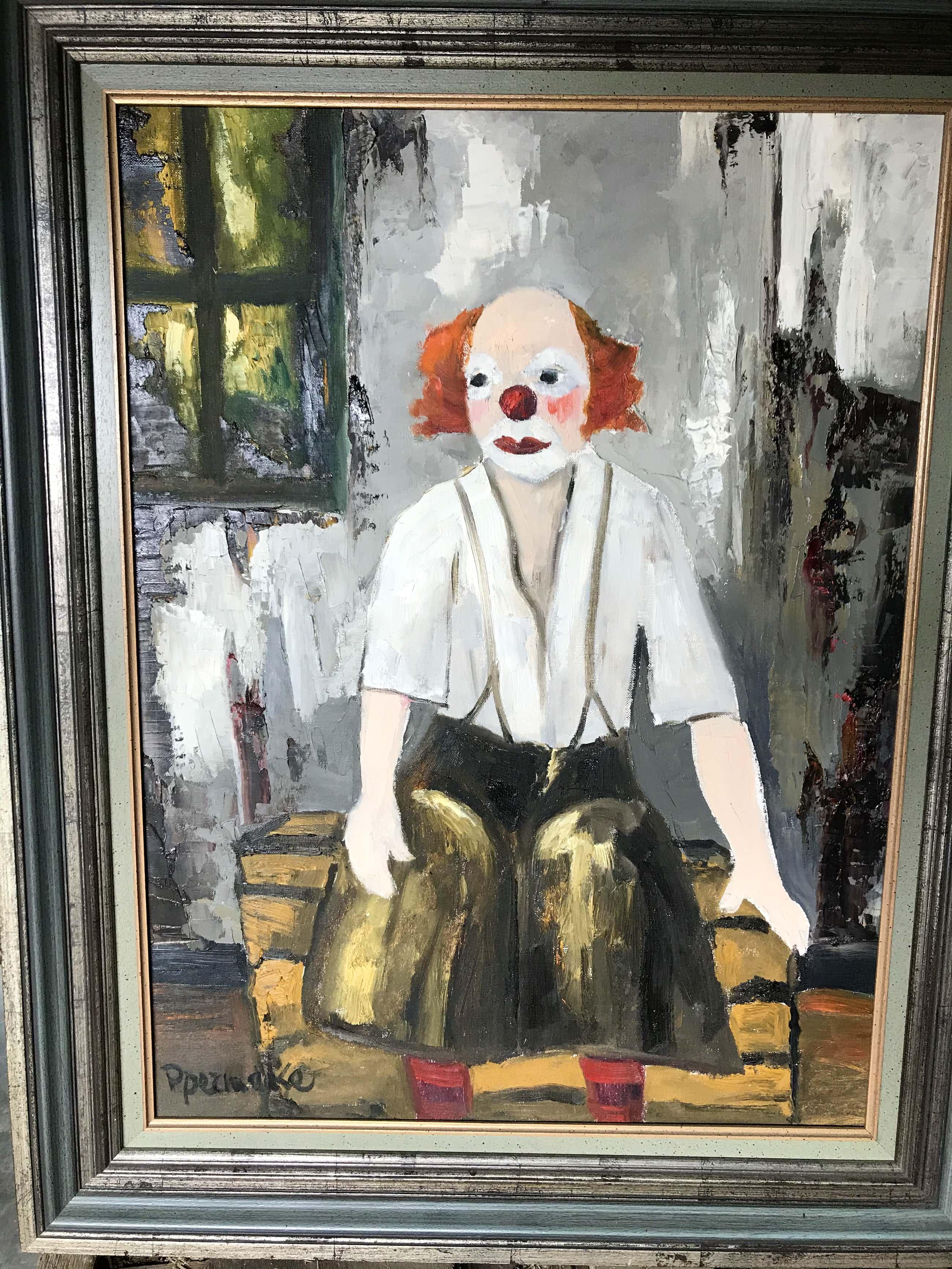 Paul Permeke - Olieverf schilderij: Clown kopen? Bied vanaf 450!