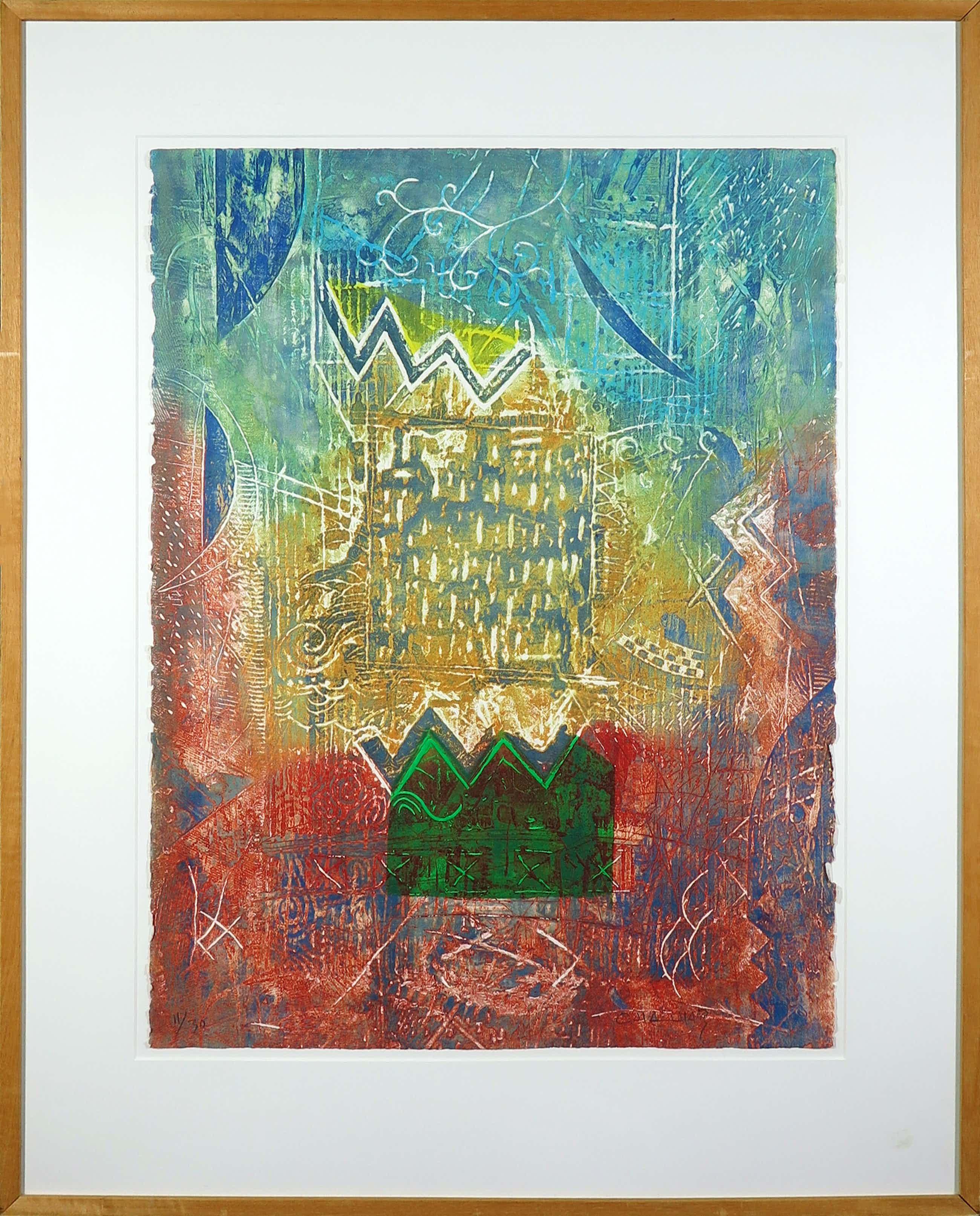 Chabab Tayefeh Mohajer - Kleurenets, Maison du Poet - Ingelijst (Groot) kopen? Bied vanaf 70!