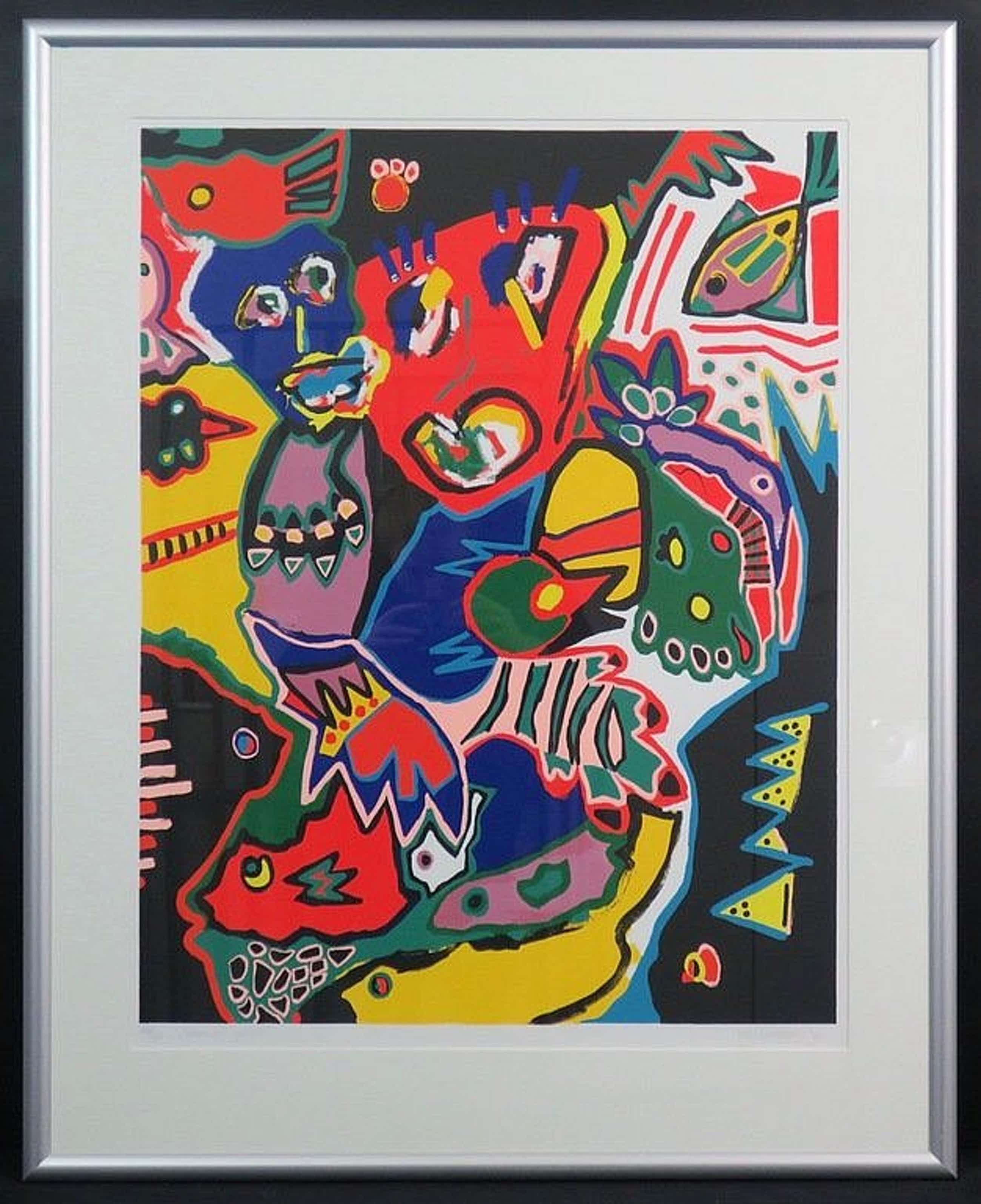 Marianne Naerebout - Kleurenzeefdruk AFRICAN JUNGLE INGELIJST!!! kopen? Bied vanaf 155!