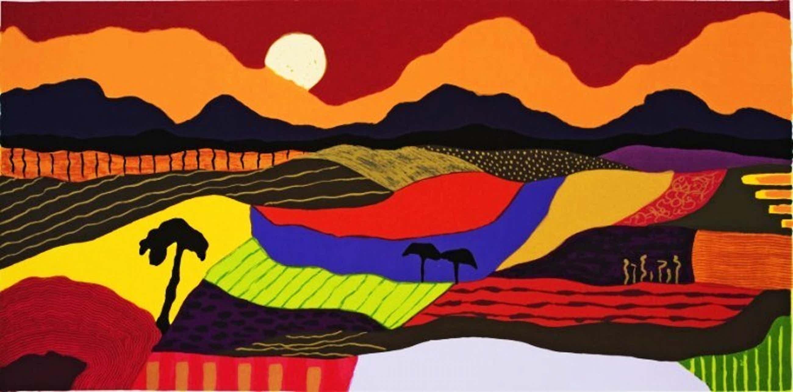 Ronald Boonacker - Kleurenzeefdruk TANZANIA Handgesigneerd--GROOT!!! kopen? Bied vanaf 165!