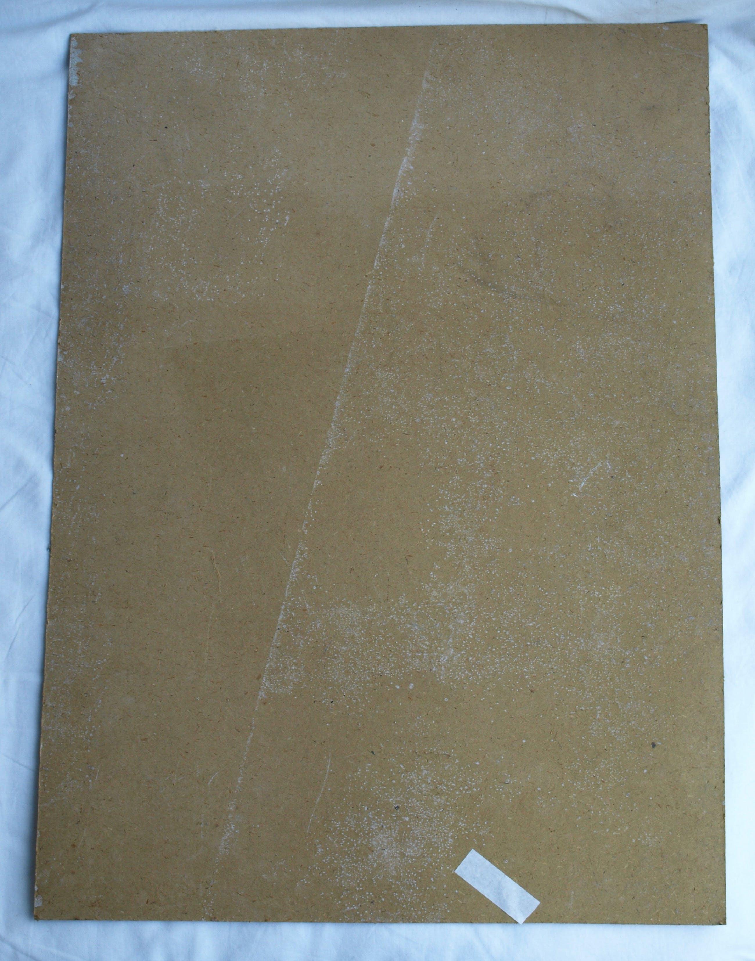 """Niet of onleesbaar gesigneerd - Acrylverf op karton , """"Naakt in huis"""" kopen? Bied vanaf 1!"""