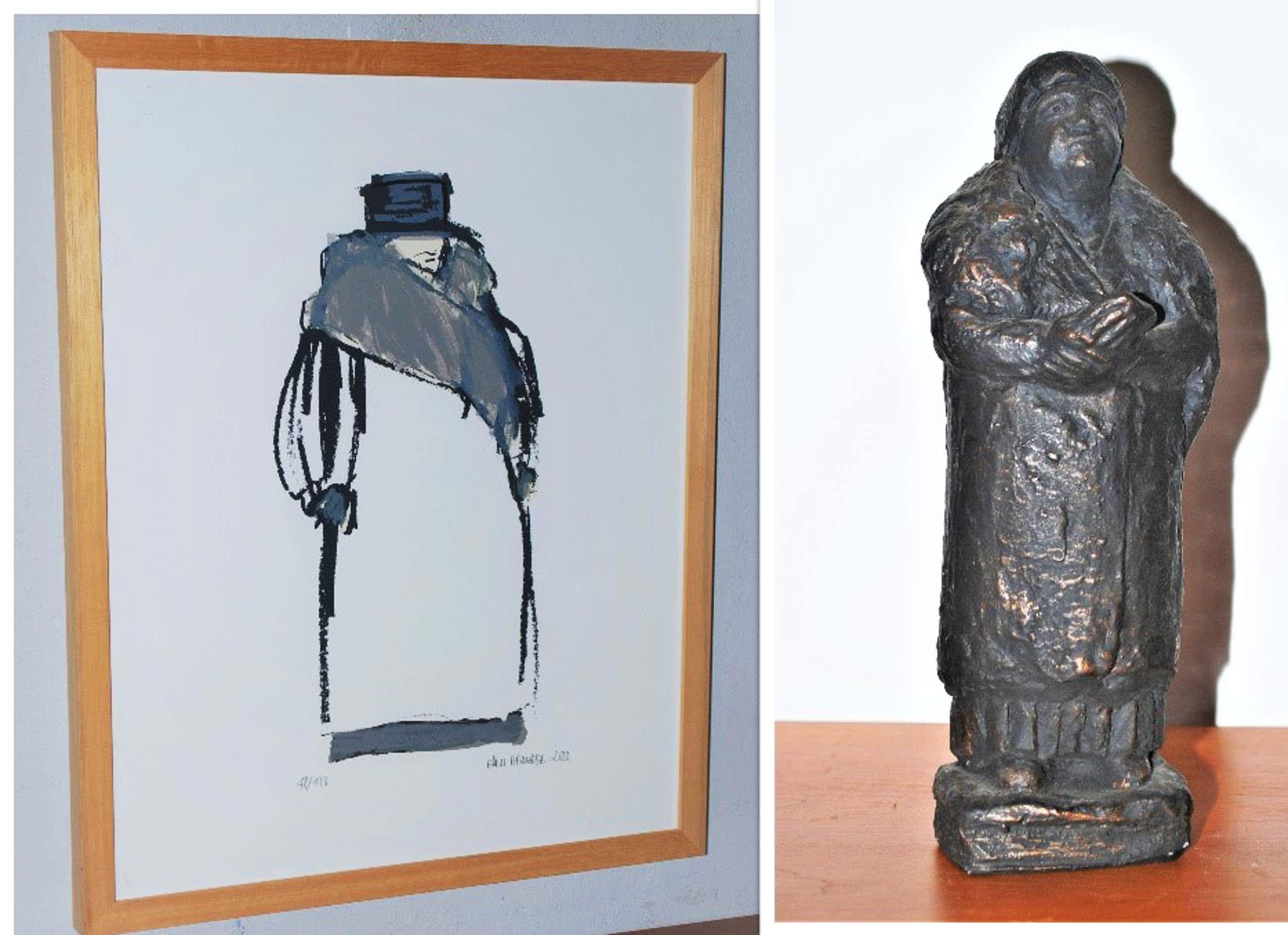 Ellen Meuwese - Wilhelmina -zeefdruk, oplage 100 - incl. beeldje Wilhelmina 1.2 kg kopen? Bied vanaf 35!