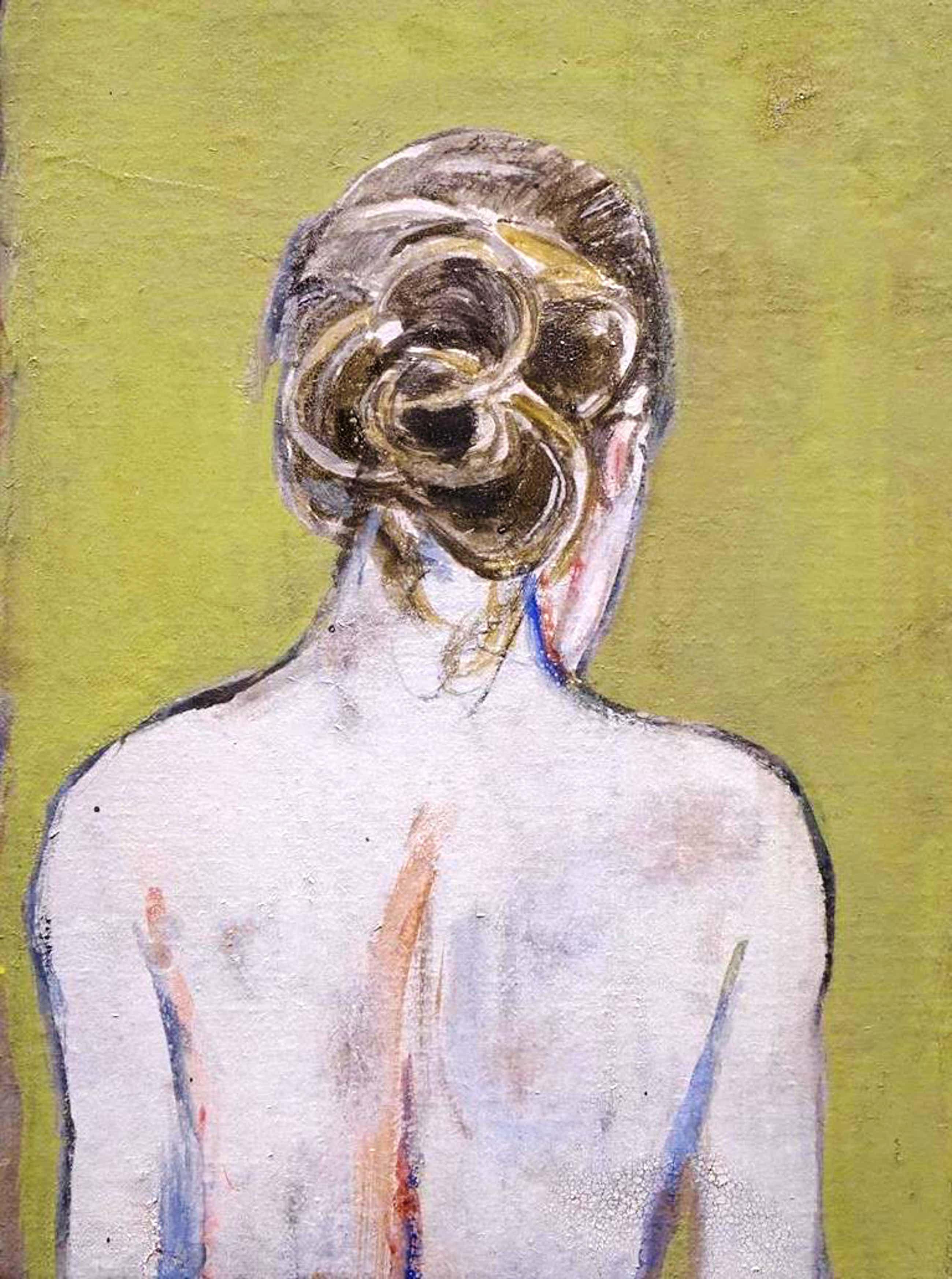 Jasper Krabbe - acryl op doek: naakt - 2009 kopen? Bied vanaf 1450!