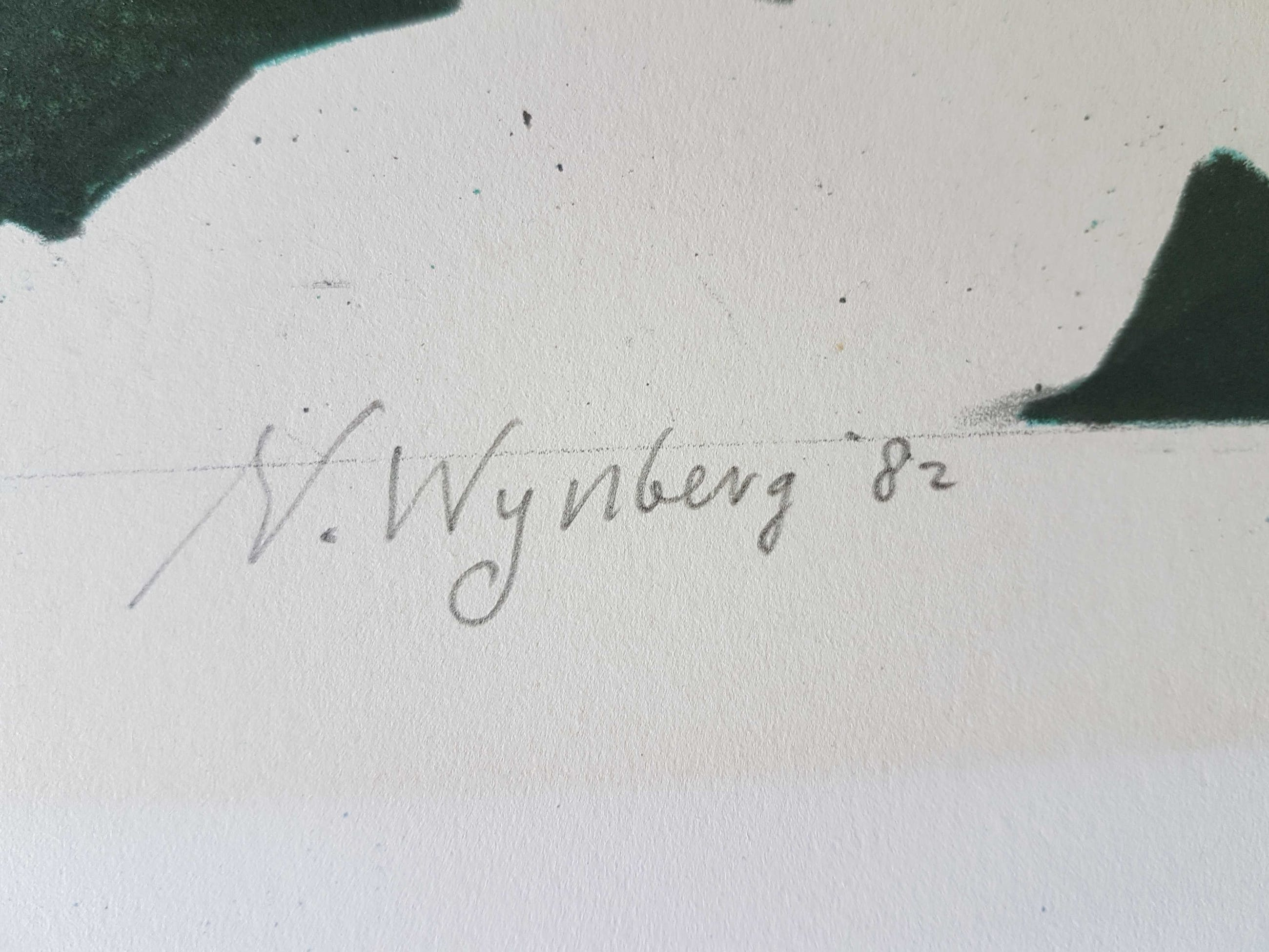 Nicolaas Wijnberg - Litho landschap uit1982 kopen? Bied vanaf 50!