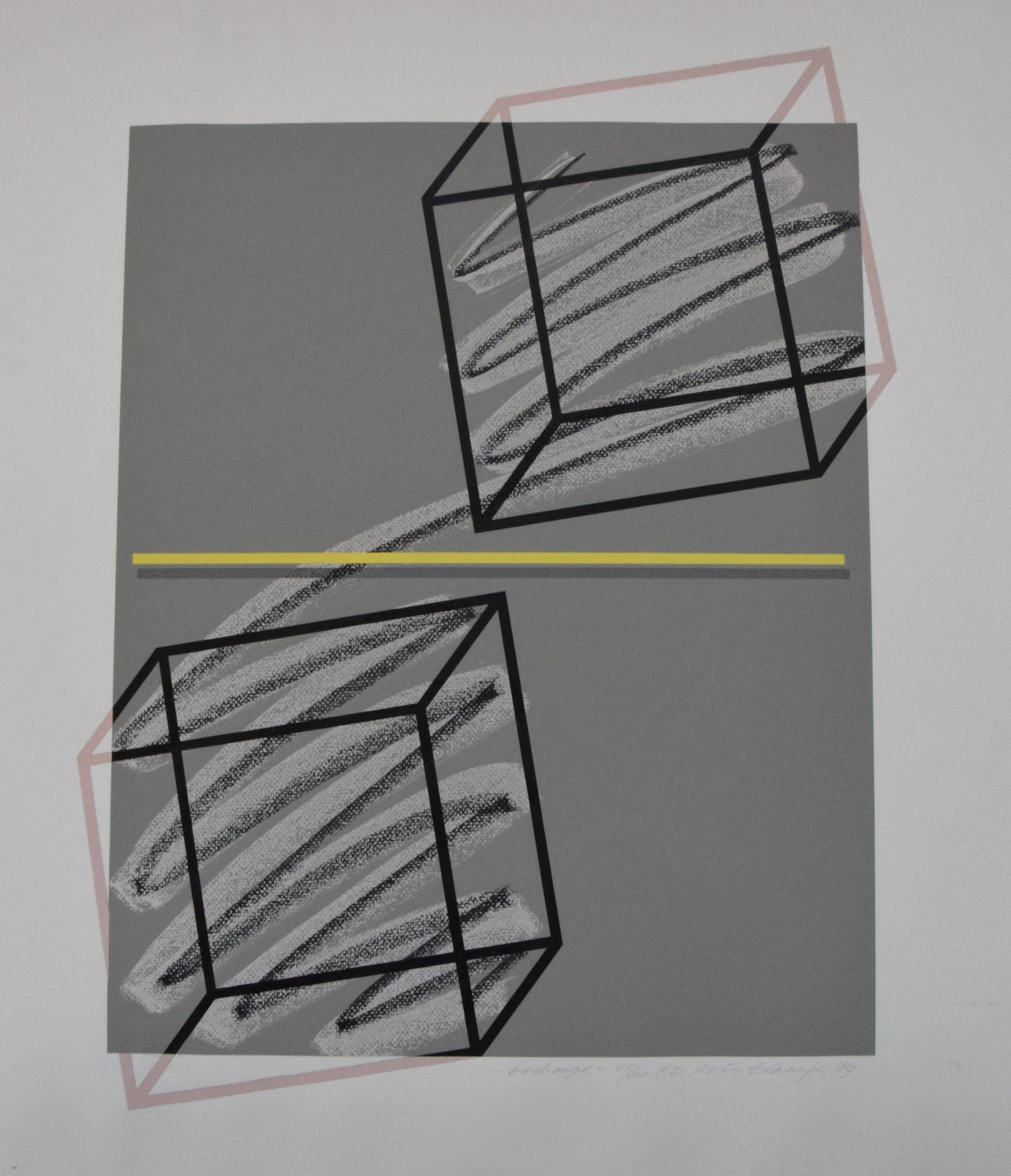 Nic Blans (jr.) - Exchange - 45/100 - 1989 - zeefdruk op papier kopen? Bied vanaf 20!