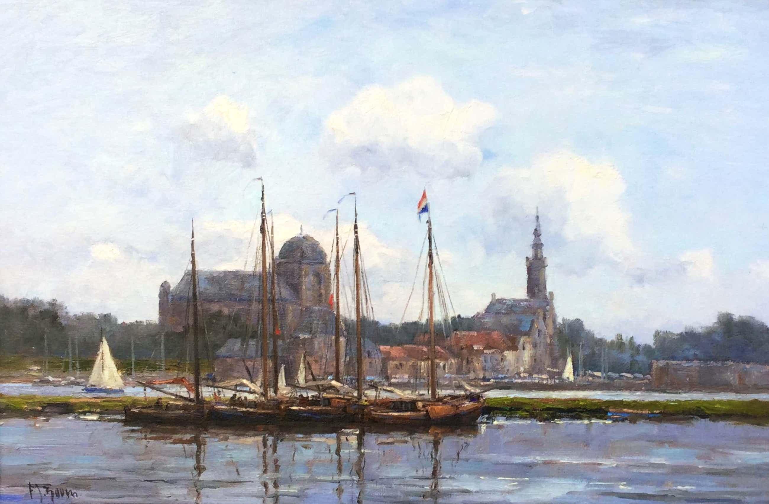 Frits Goosen - C2482 - De haven van Veere kopen? Bied vanaf 1200!