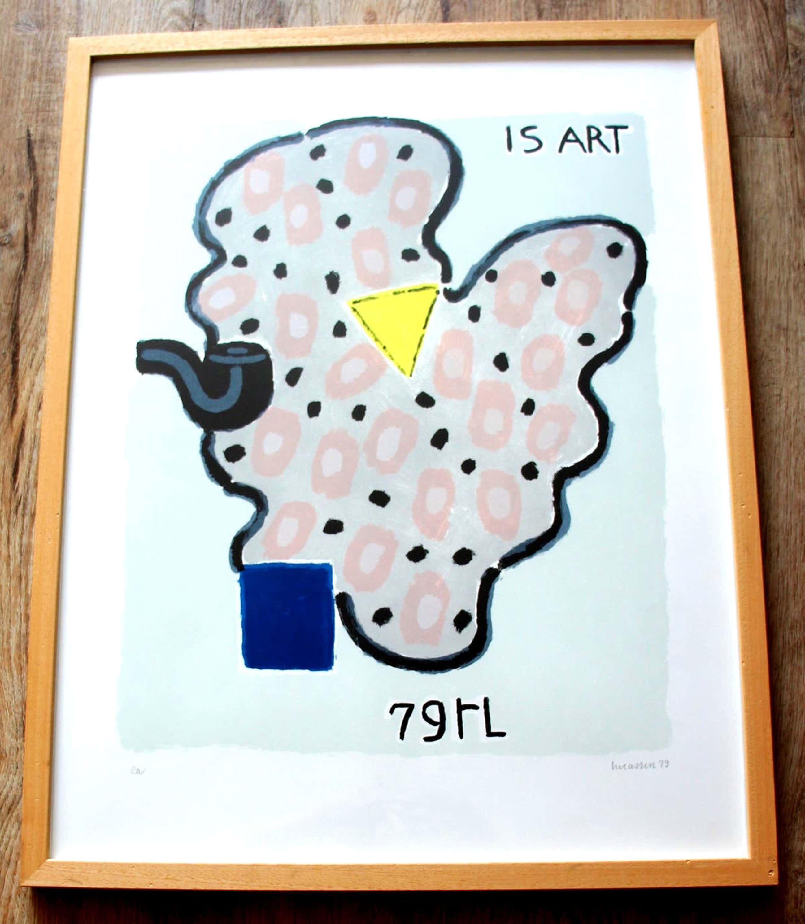 Reinier Lucassen - Zeefdruk: Is Art - 1979 kopen? Bied vanaf 150!