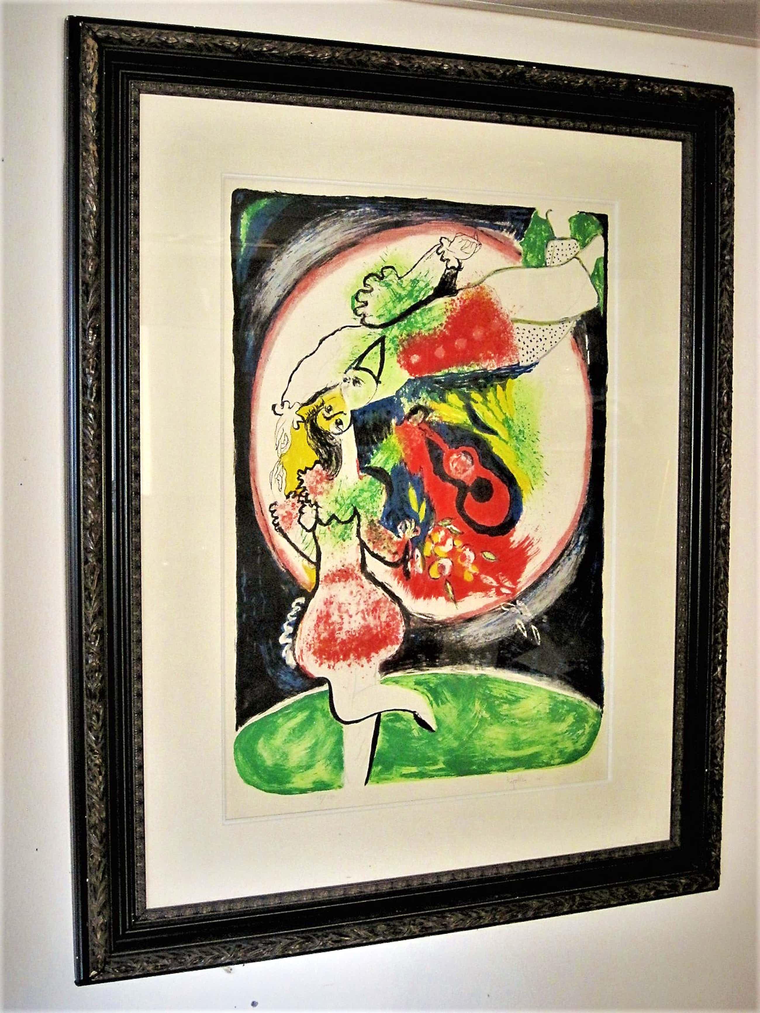 """Juan Garcia Ripolles - Bekend Spaans expressionist - Beperkte Oplage Litho """"Cirque"""" - 1971- GROOT!! kopen? Bied vanaf 140!"""