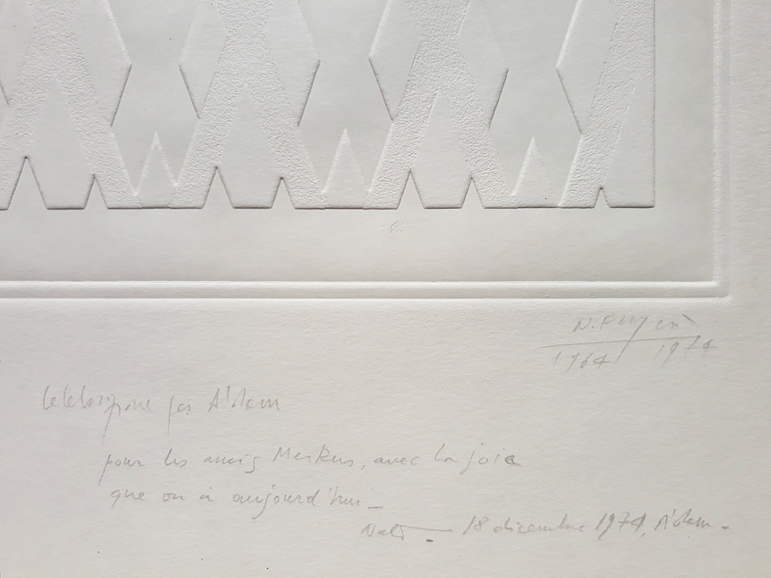 Nato Frascà - Geometrisch abstract, preegdruk kopen? Bied vanaf 195!