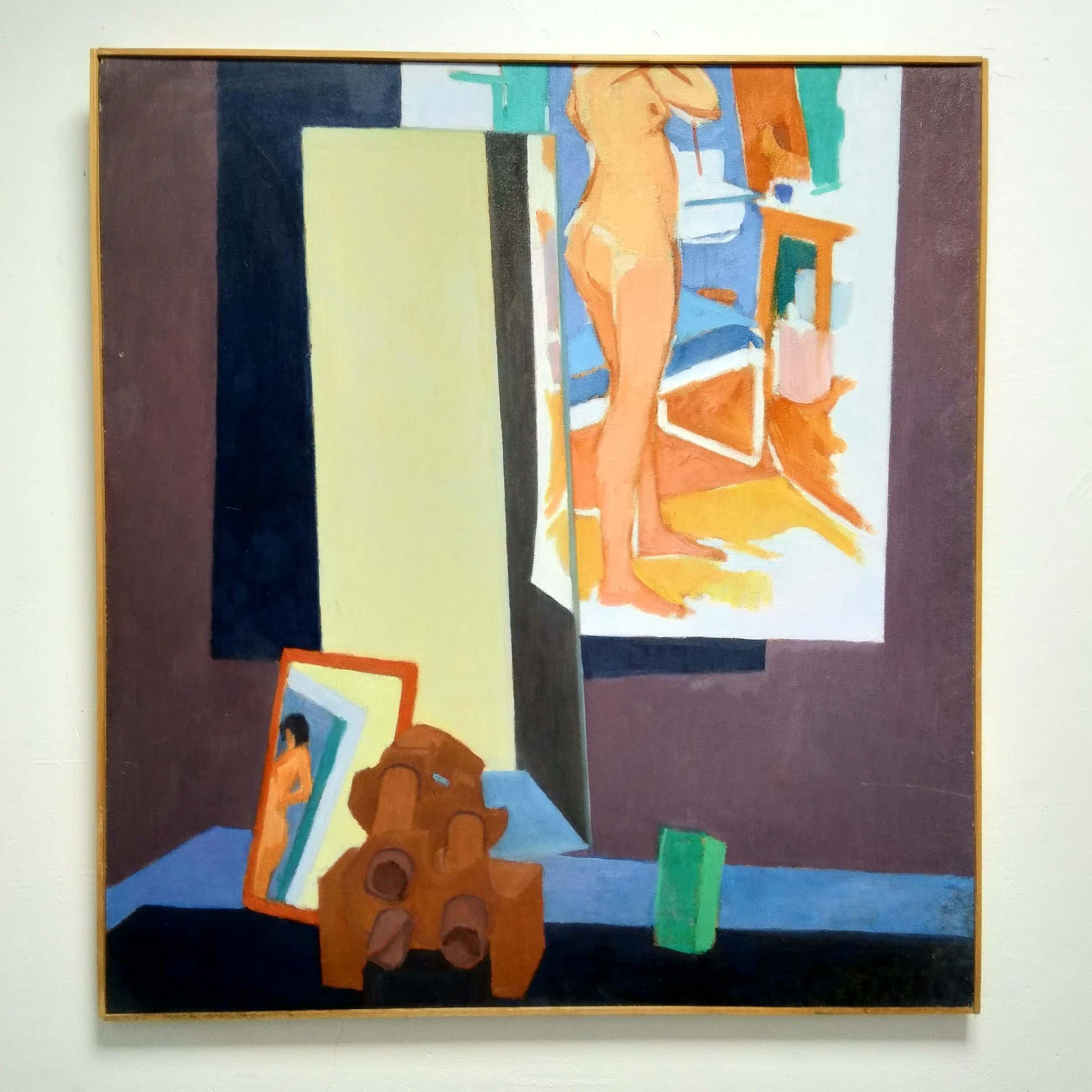 """Antoon van Bakel - ''Kompositie met naaktstudie."""" 1976 kopen? Bied vanaf 100!"""