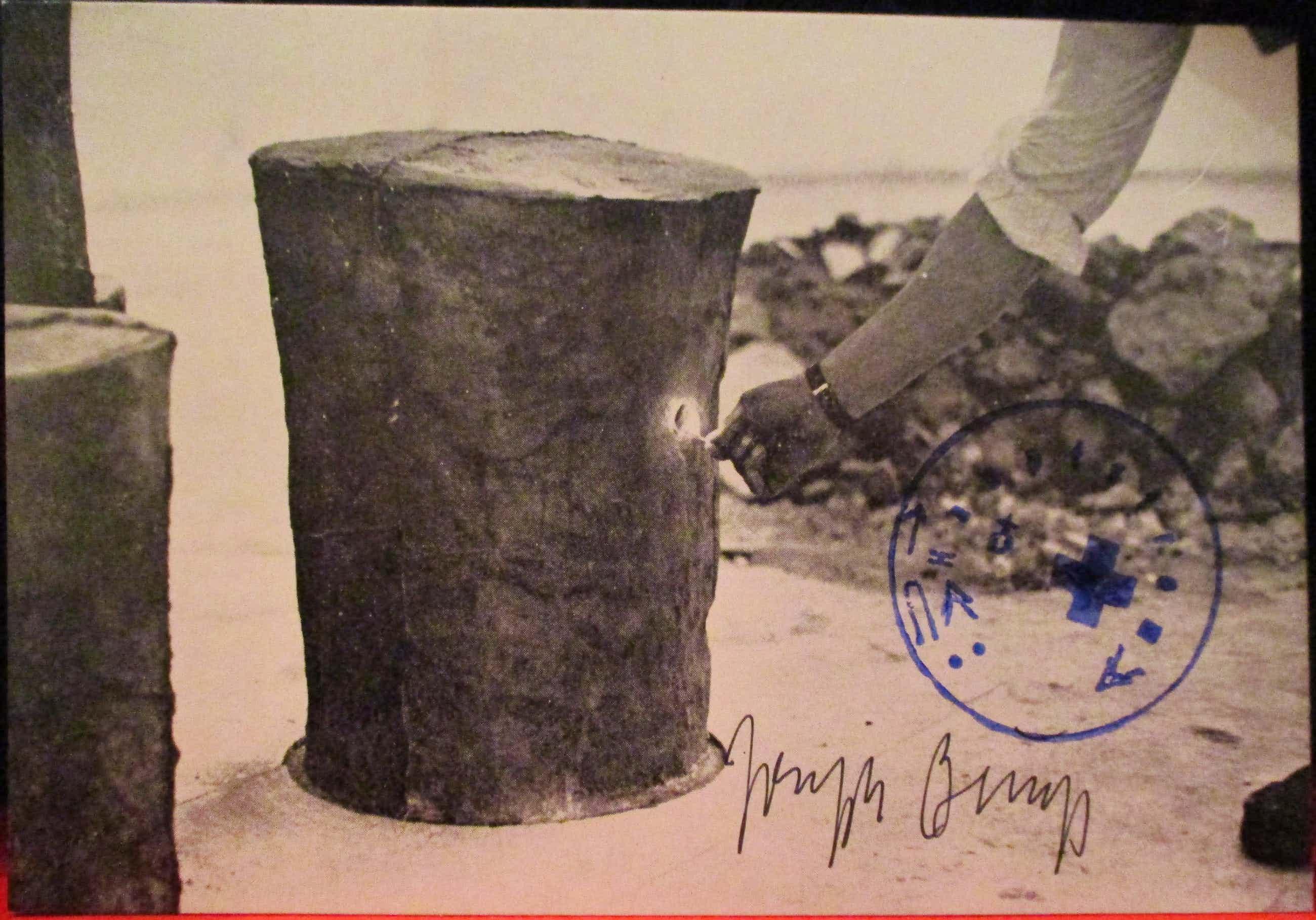 """Joseph Beuys - Joseph Beuys - Joseph Beuys from """"Tram Stop"""" Karte, Handsigniert und gestempel kopen? Bied vanaf 270!"""