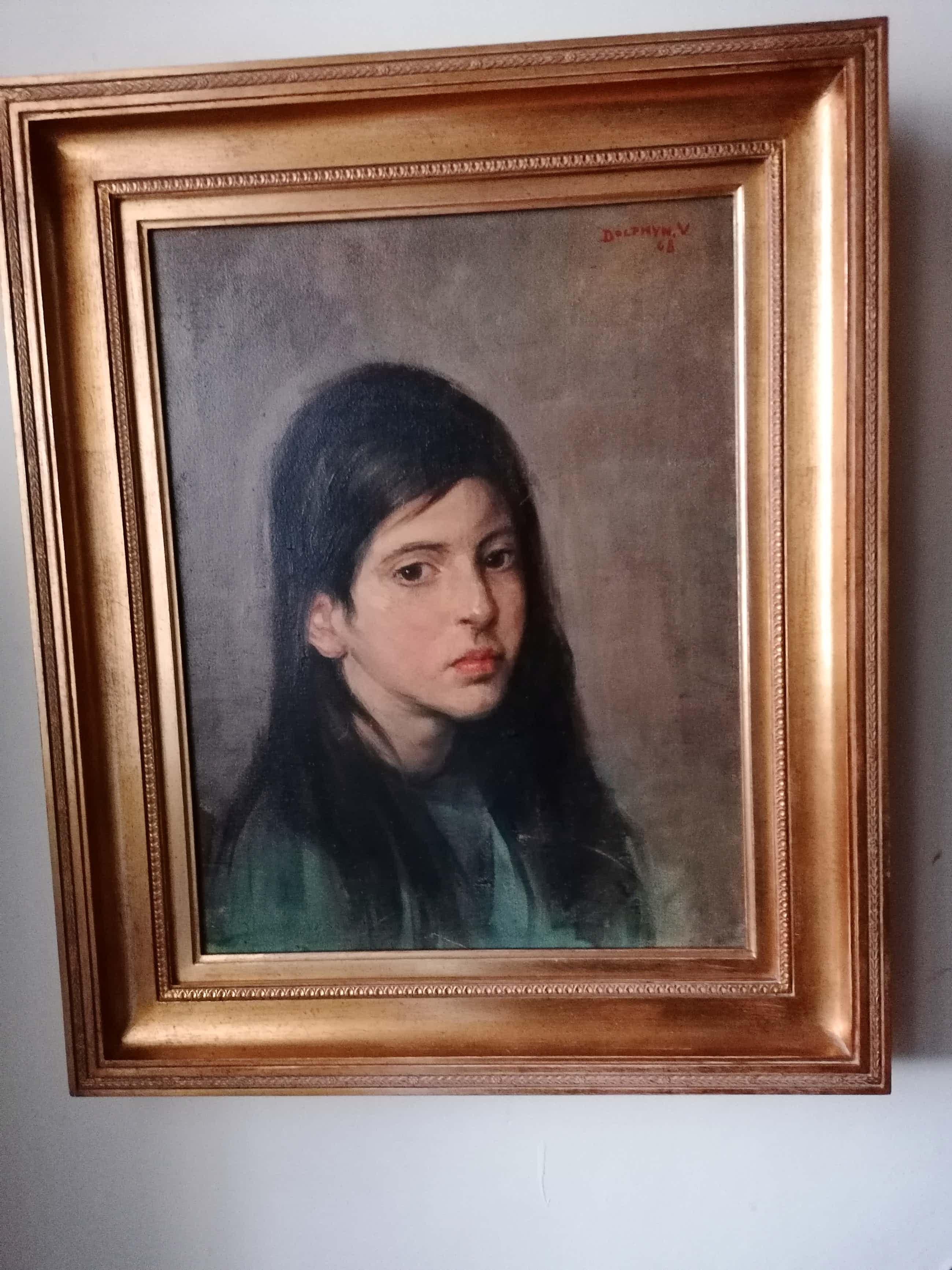 Victor Dolphyn - 'portret van jong meisje, zijn vriendin' kopen? Bied vanaf 395!