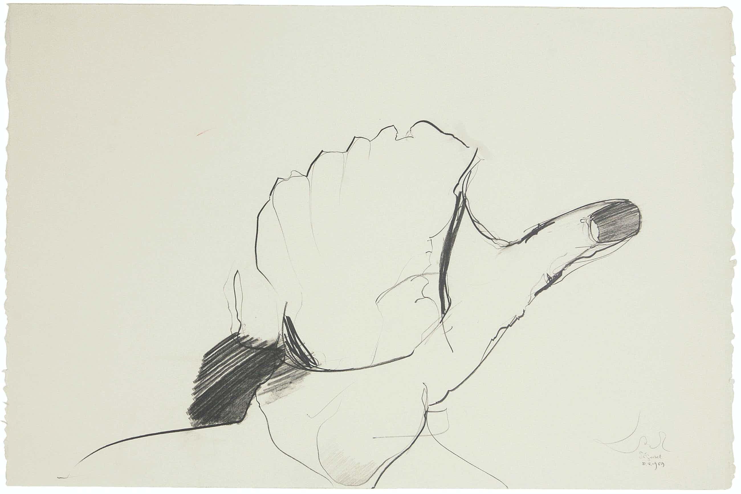 Rudolf Schoofs - frühe Zeichnung von 1969, UNIKAT, Bleistift auf Bütten, signiert kopen? Bied vanaf 220!