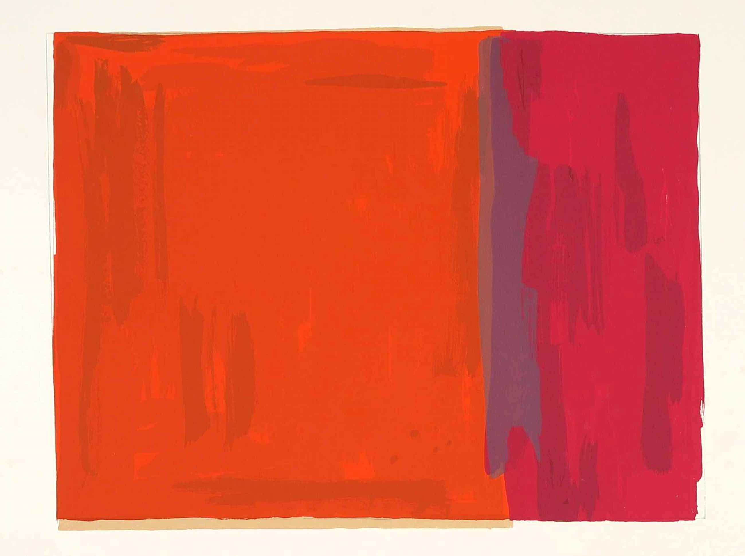 Ingrid Casteleyn - Zeefdruk, Abstracte compositie kopen? Bied vanaf 20!