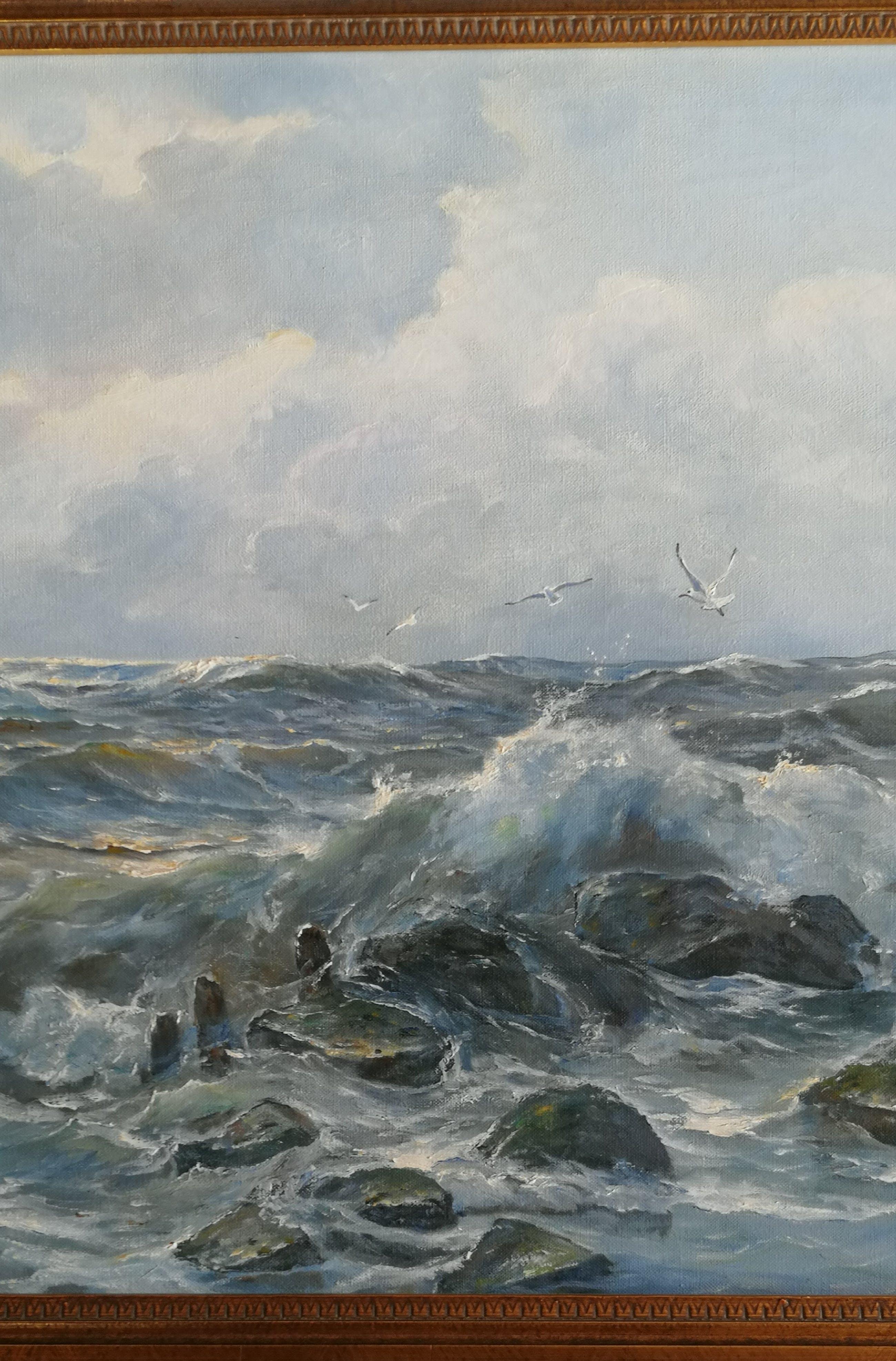 Meeuwis van Buuren - Stormachtige zee kopen? Bied vanaf 435!