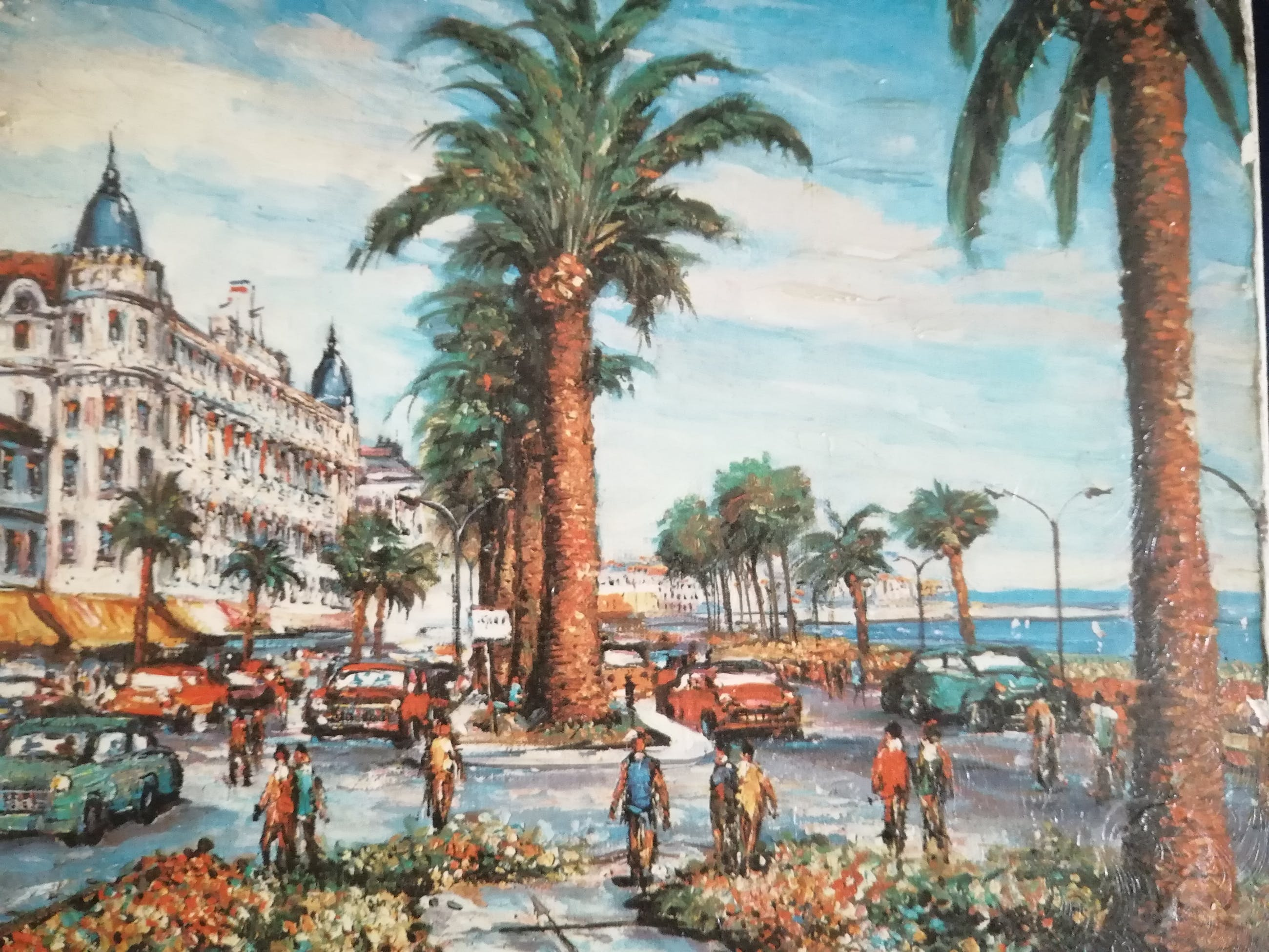 Niet of onleesbaar gesigneerd - Promenade des Anglais in Nice Azurenkust kopen? Bied vanaf 10!