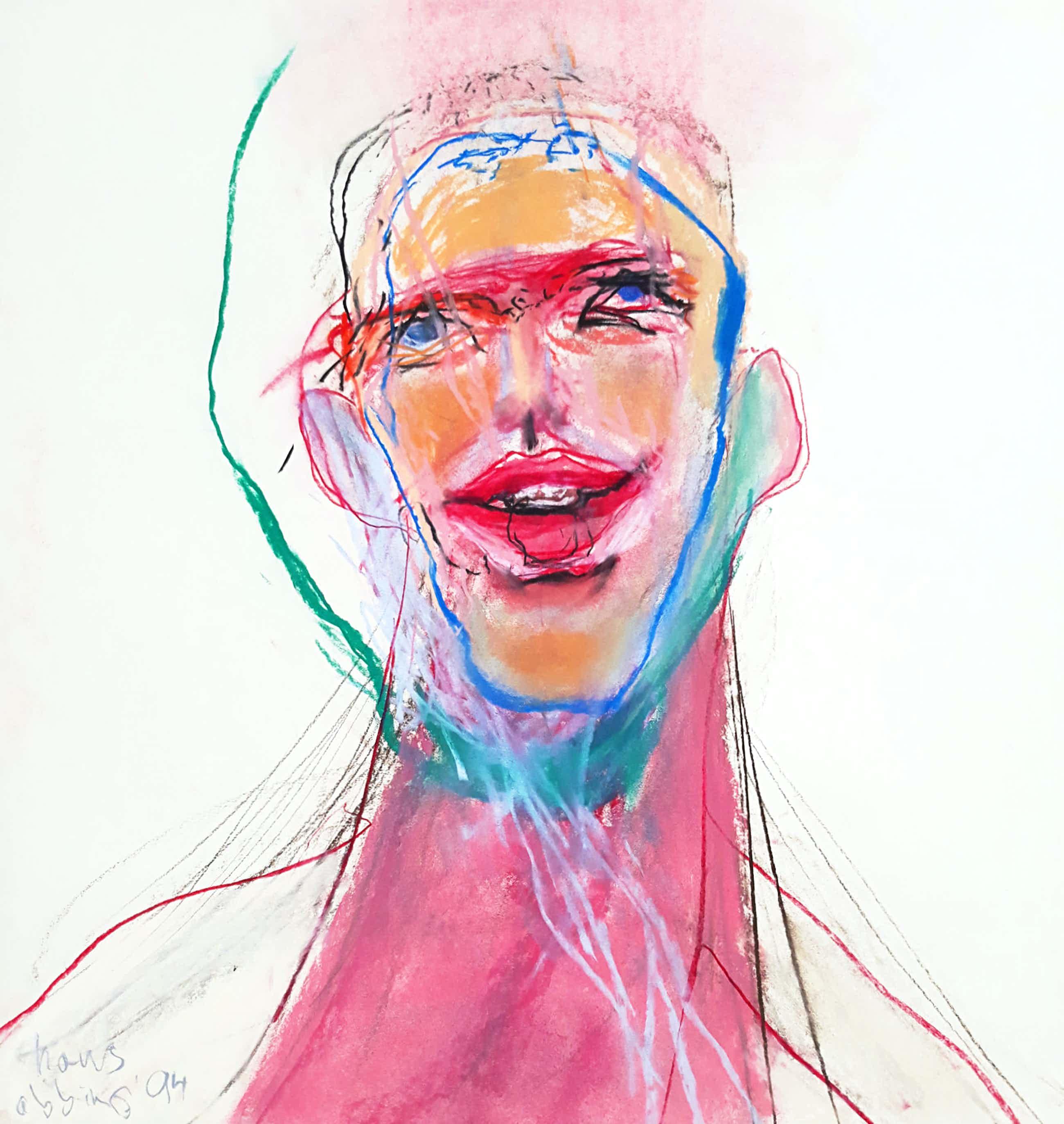 Hans Abbing - Portret van een man, tekening met pastelkrijt kopen? Bied vanaf 295!
